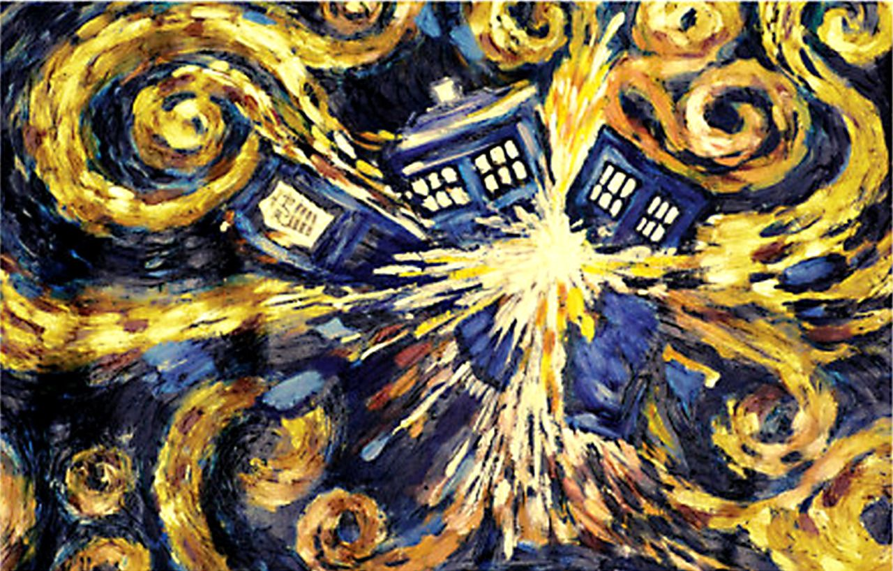 1280x818 Gift Search | Doctor Who - Van Gogh's Exploding Tardis Poster