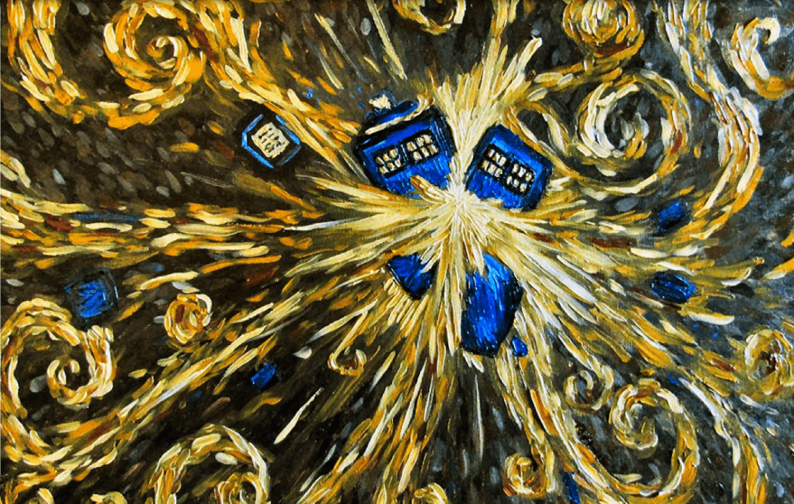 1140x723 15 Pop Culture Riffs On Van Gogh | Tardis, Van gogh and Fandom