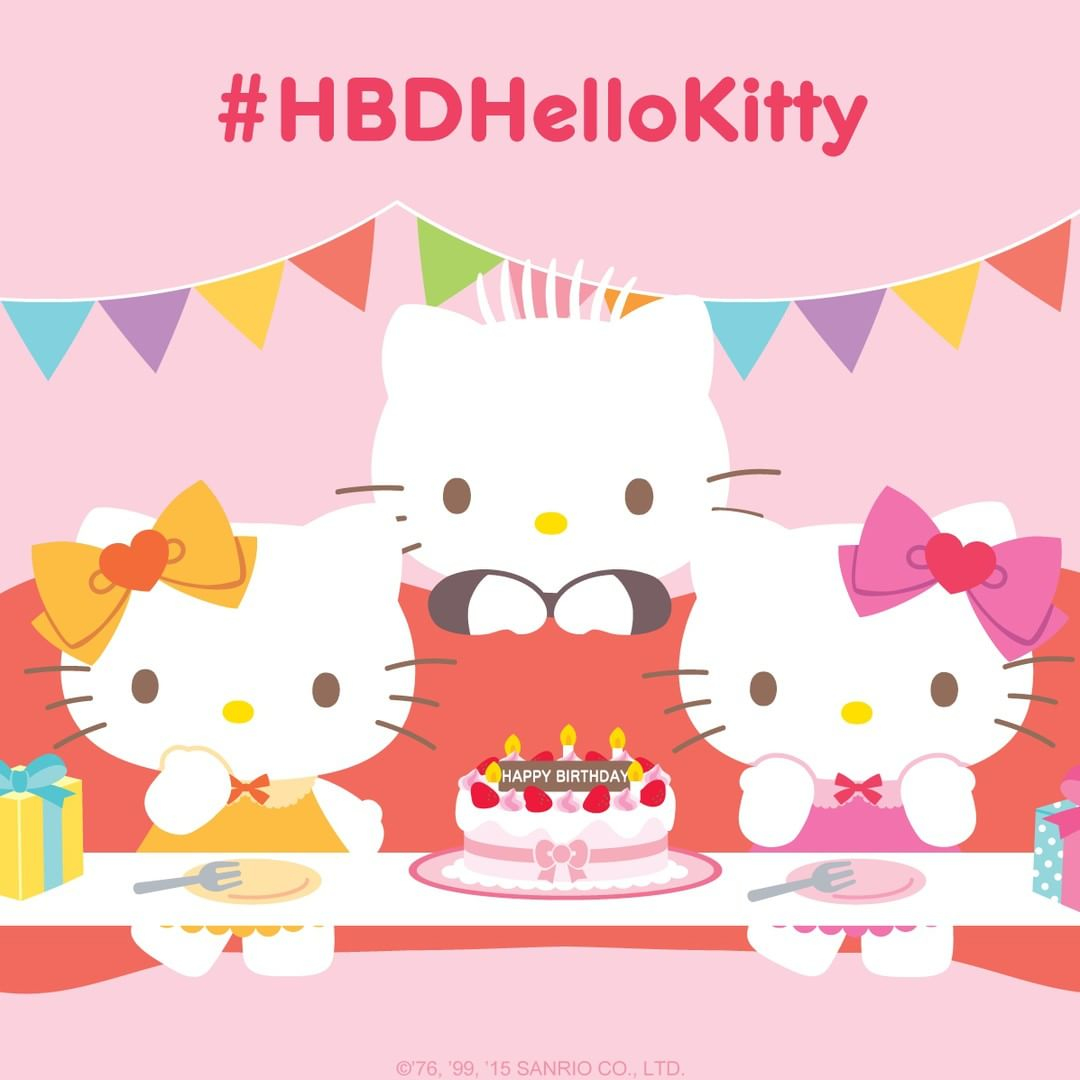 1080x1080 Happy Birthday to #HelloKitty and her twin sister, Mimmy! Share ...