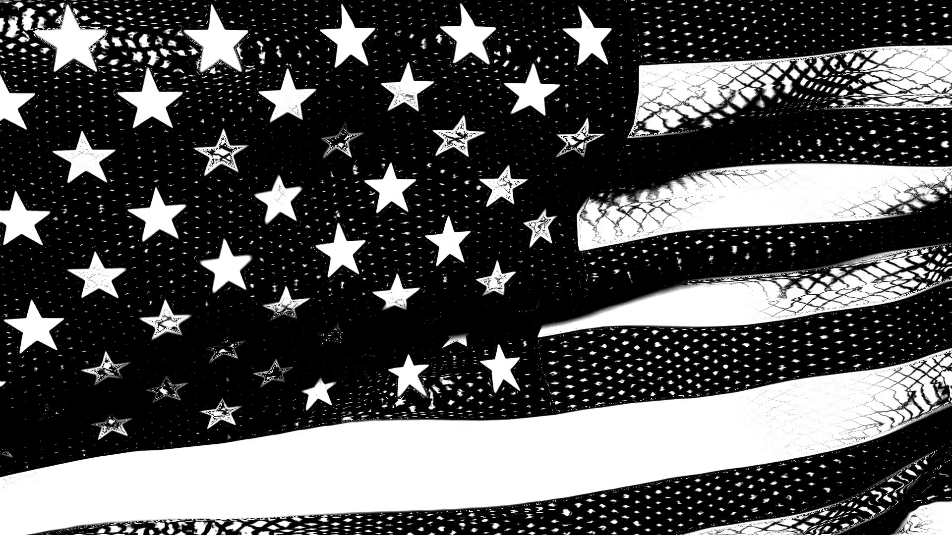 1920x1080 Old Glory 0212: A graphic black and white American flag waves in the ...