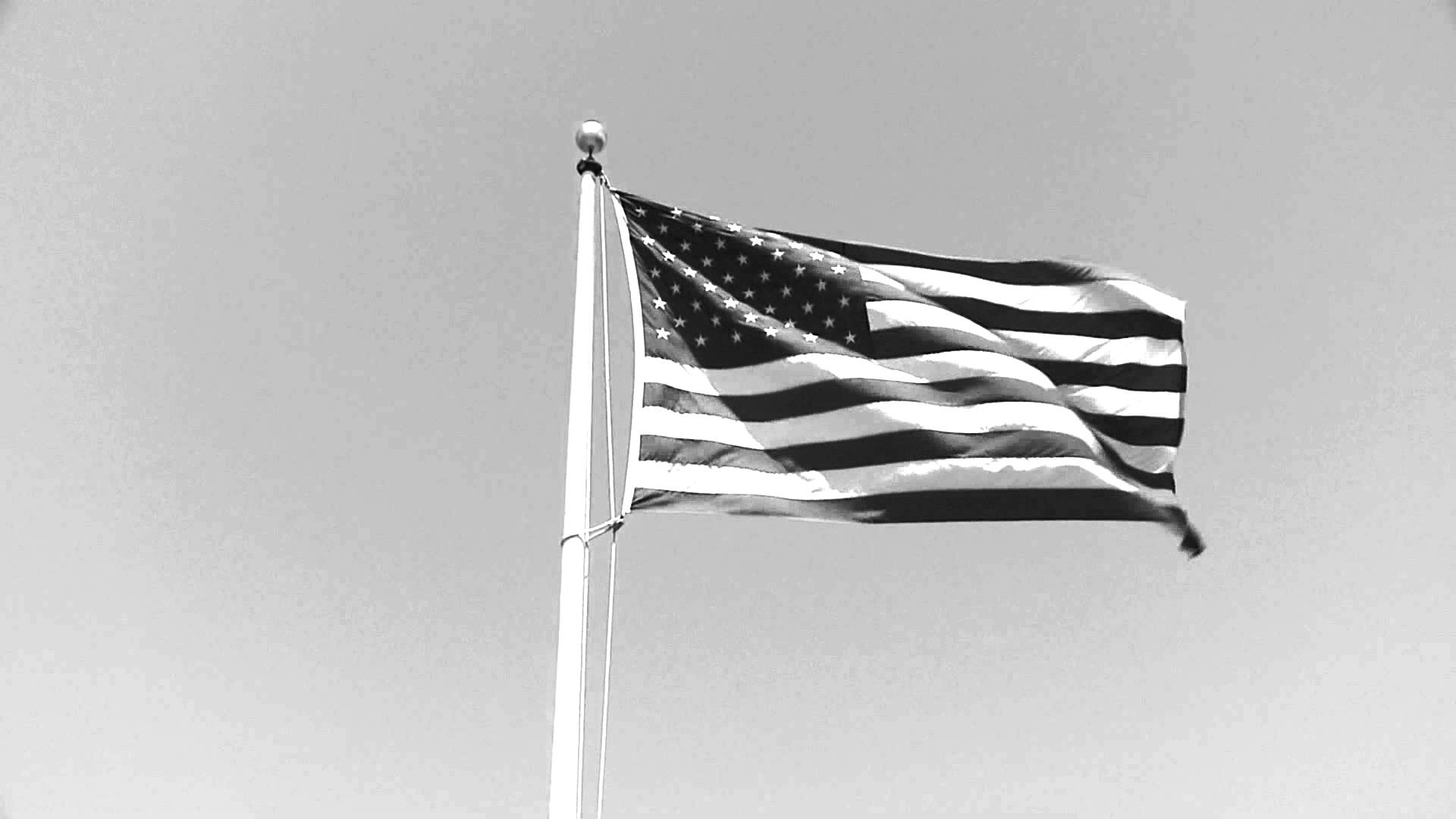 1920x1080 The American Flag [Black and White] - YouTube