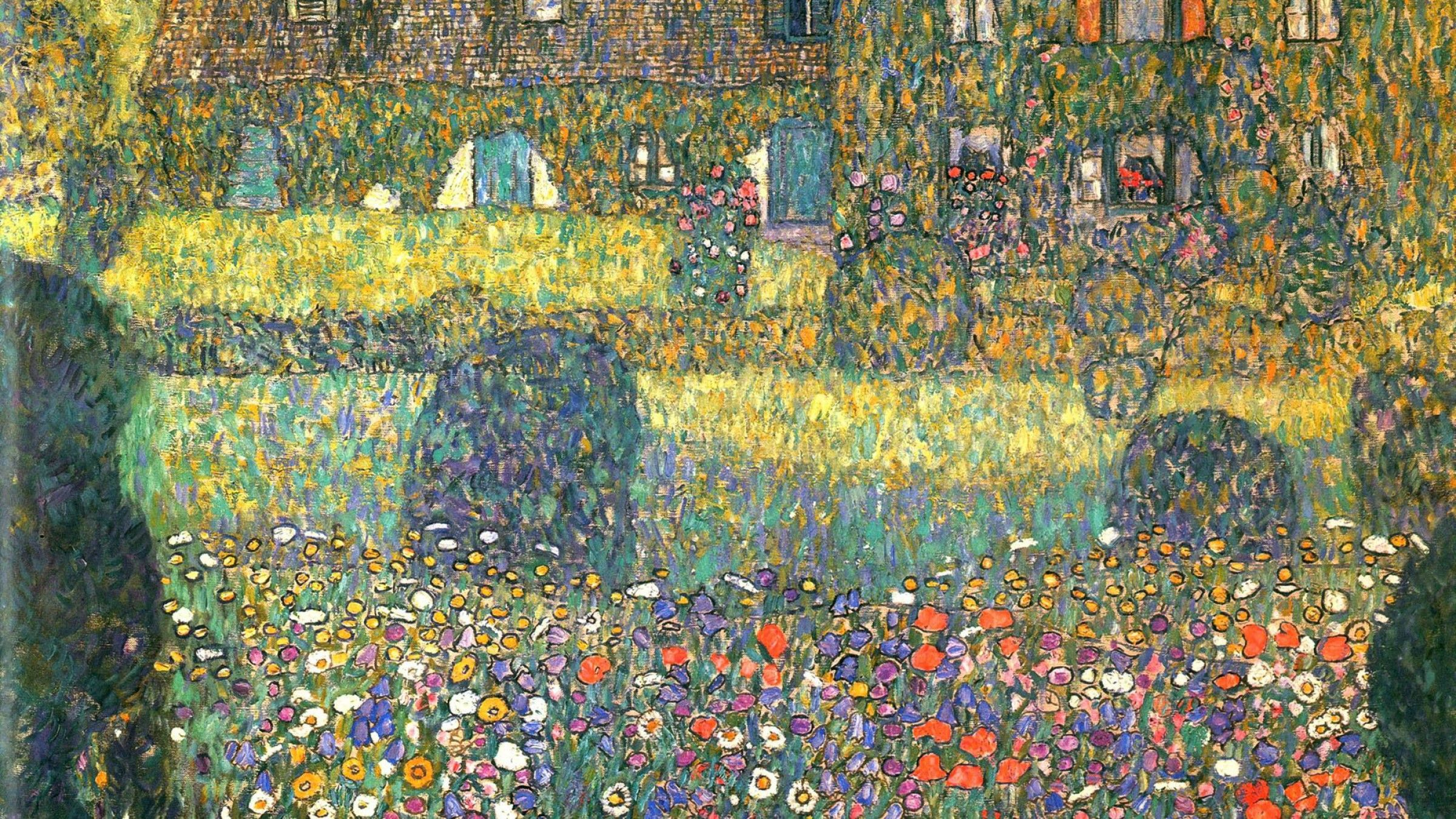 2400x1350 Painting of Gustav Klimt - Backyard wallpapers and images ...