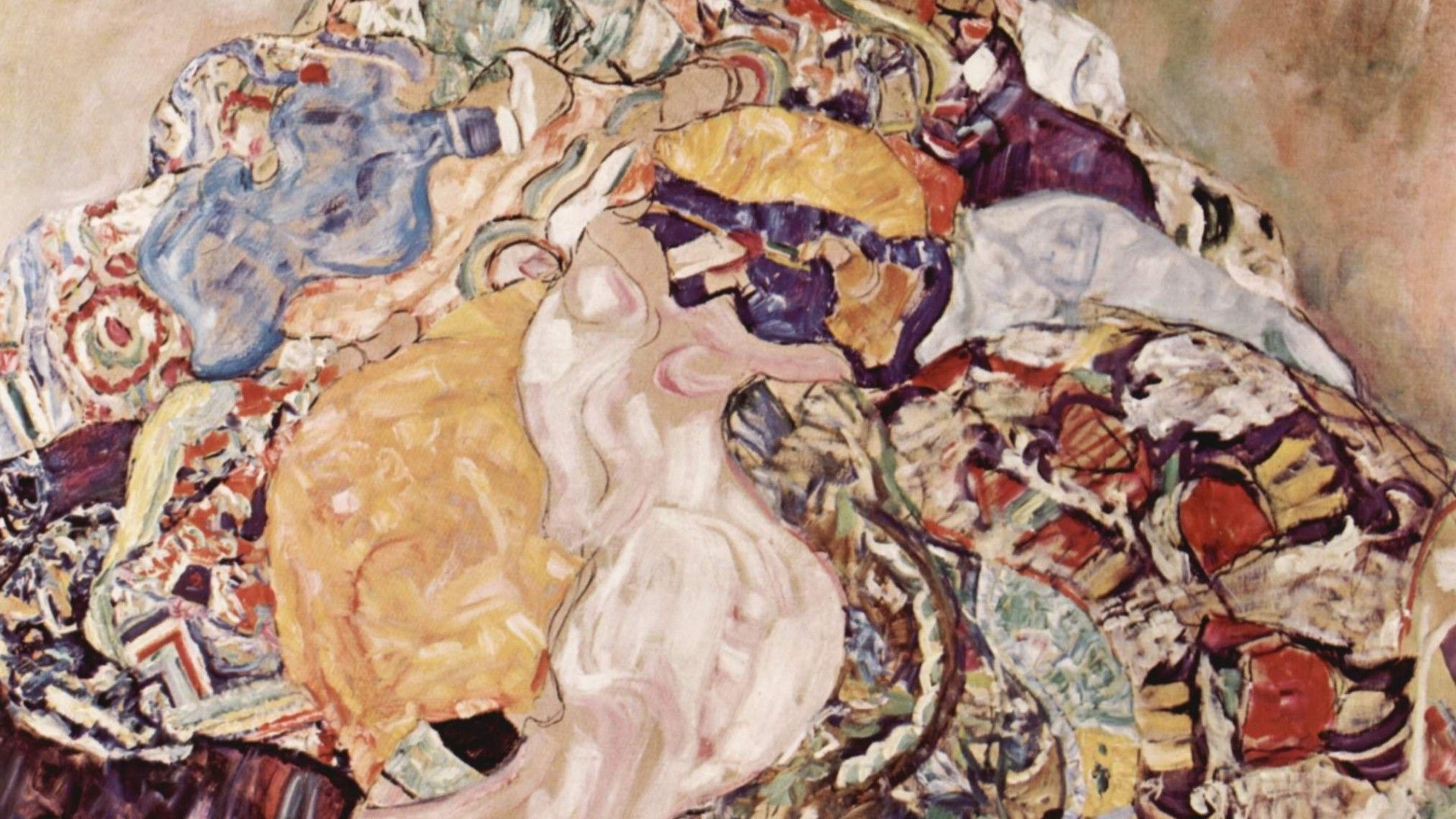 1920x1080 Painting of Gustav Klimt - Mess wallpapers and images - wallpapers ...