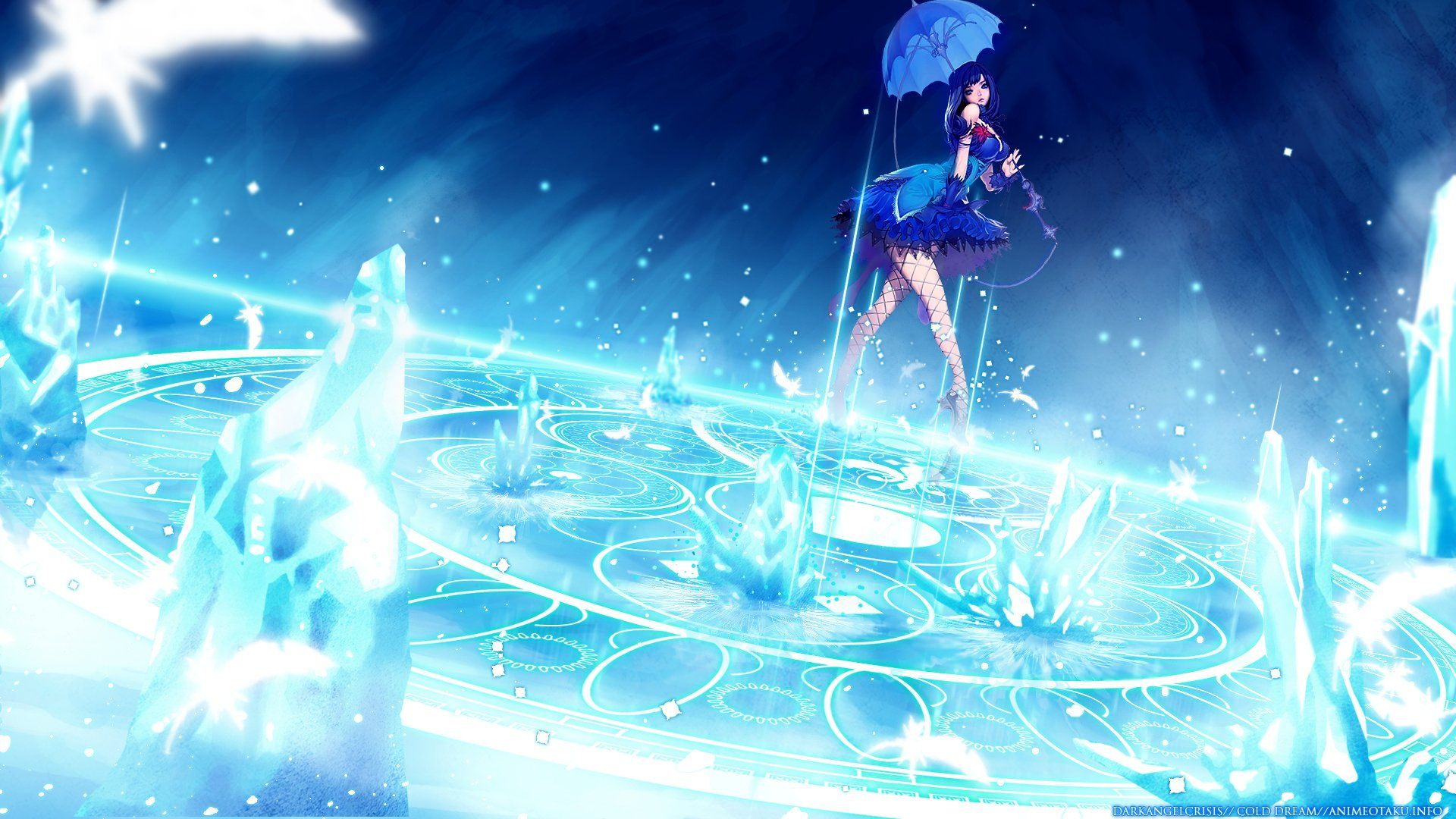 1920x1080 Blue Anime Girl HD Wallpaper | Background Image | 1920x1080 | ID ...
