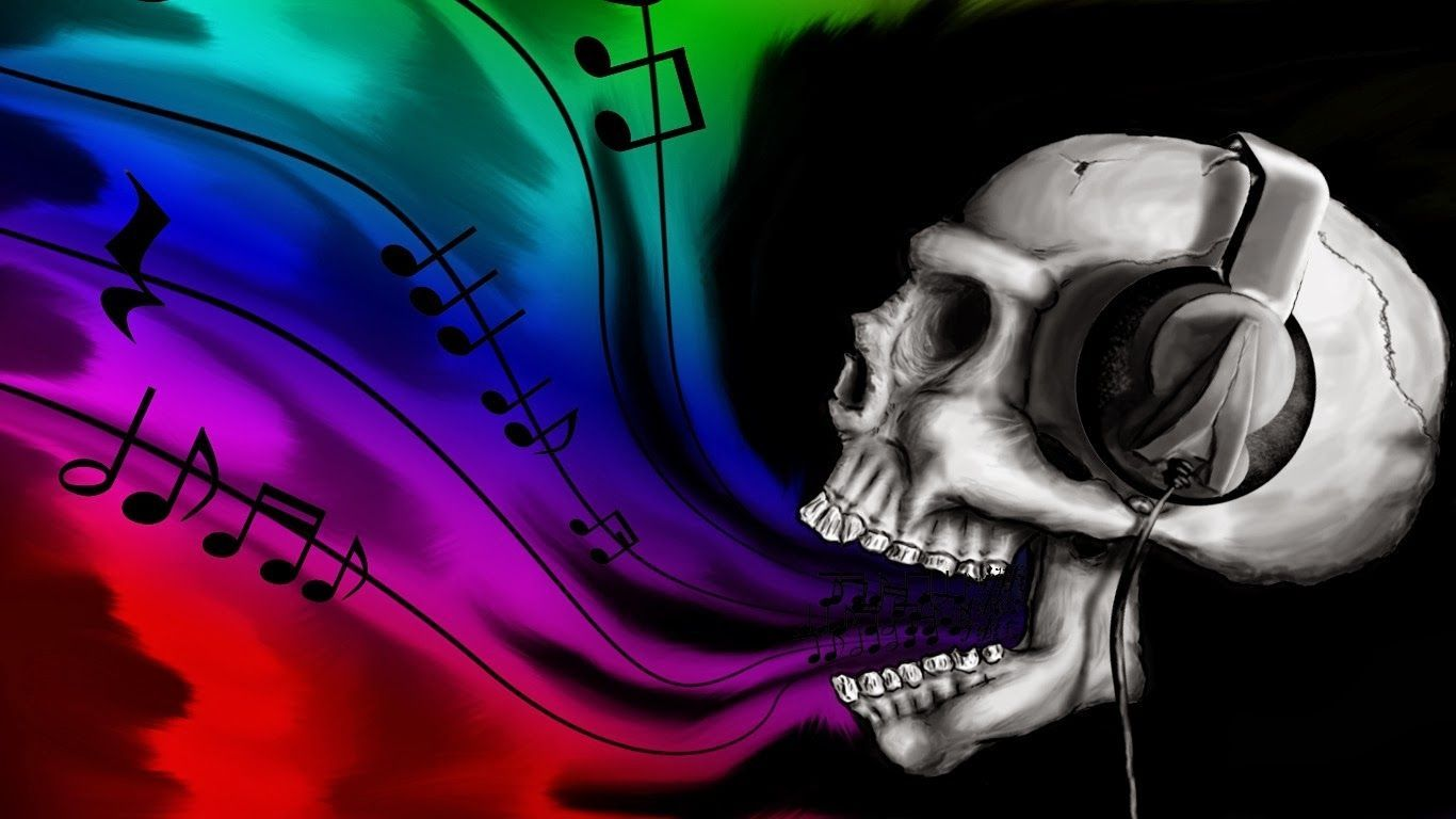 1366x768 Skulls Gothic Girl | Hd Wallpapers Blog: Emo punk Wallpapers | Art ...