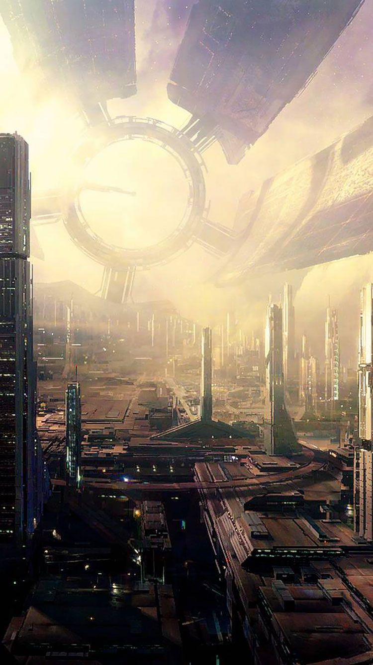 750x1334 50 Futuristic City iPhone Wallpapers