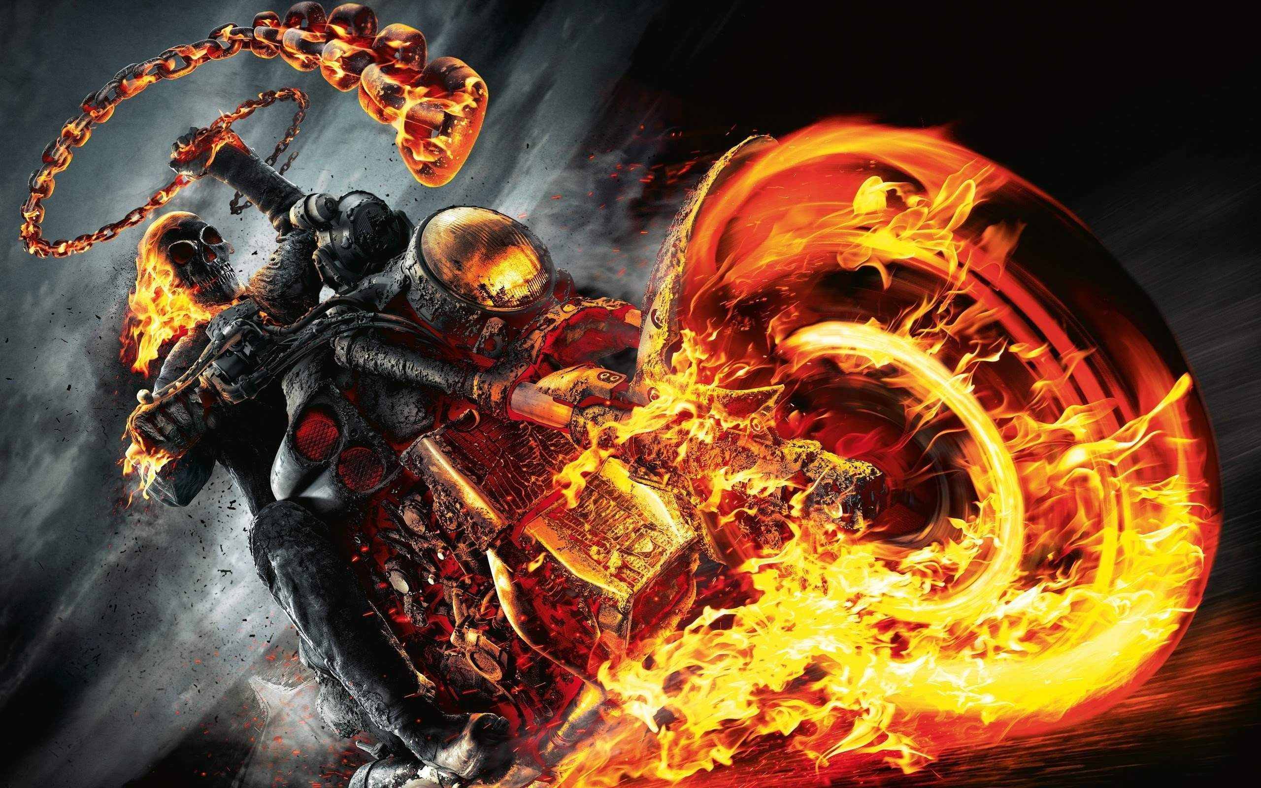 2560x1600 Ghost Rider Bike Wallpaper HD Download For Desktop and Mobile ...