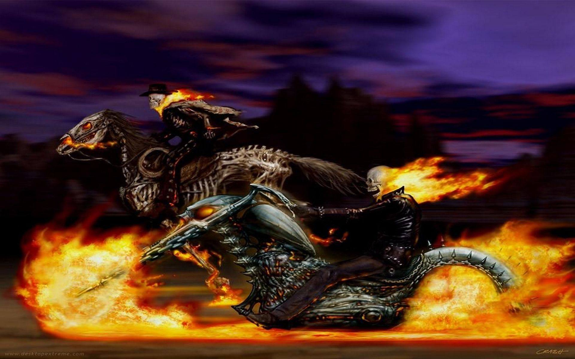 1920x1200 127 Ghost Rider HD Wallpapers | Backgrounds - Wallpaper Abyss ...