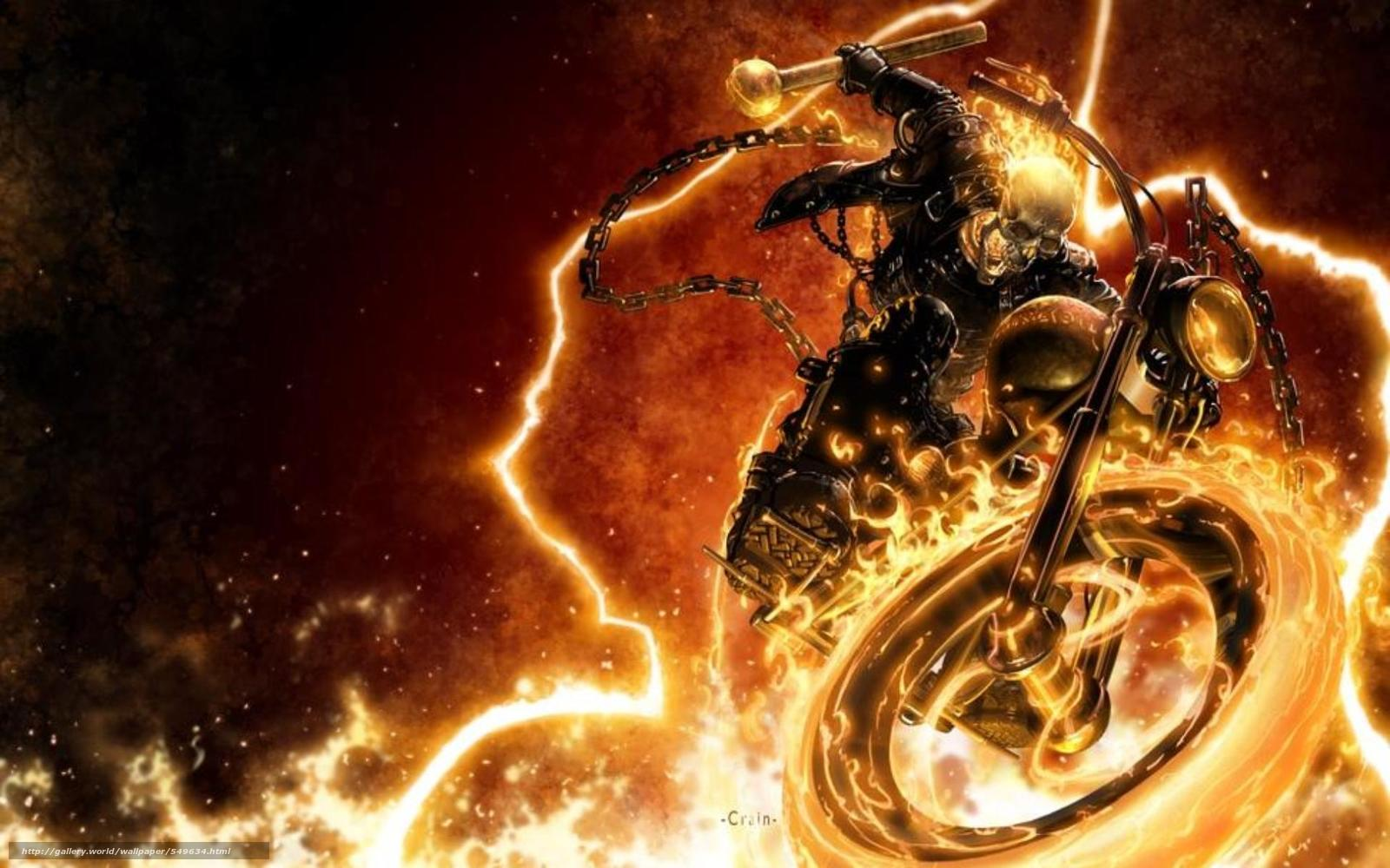 1600x1000 Wallpapers art, Ghost Rider, infernal, Ghostly, racer, Biker on your ...