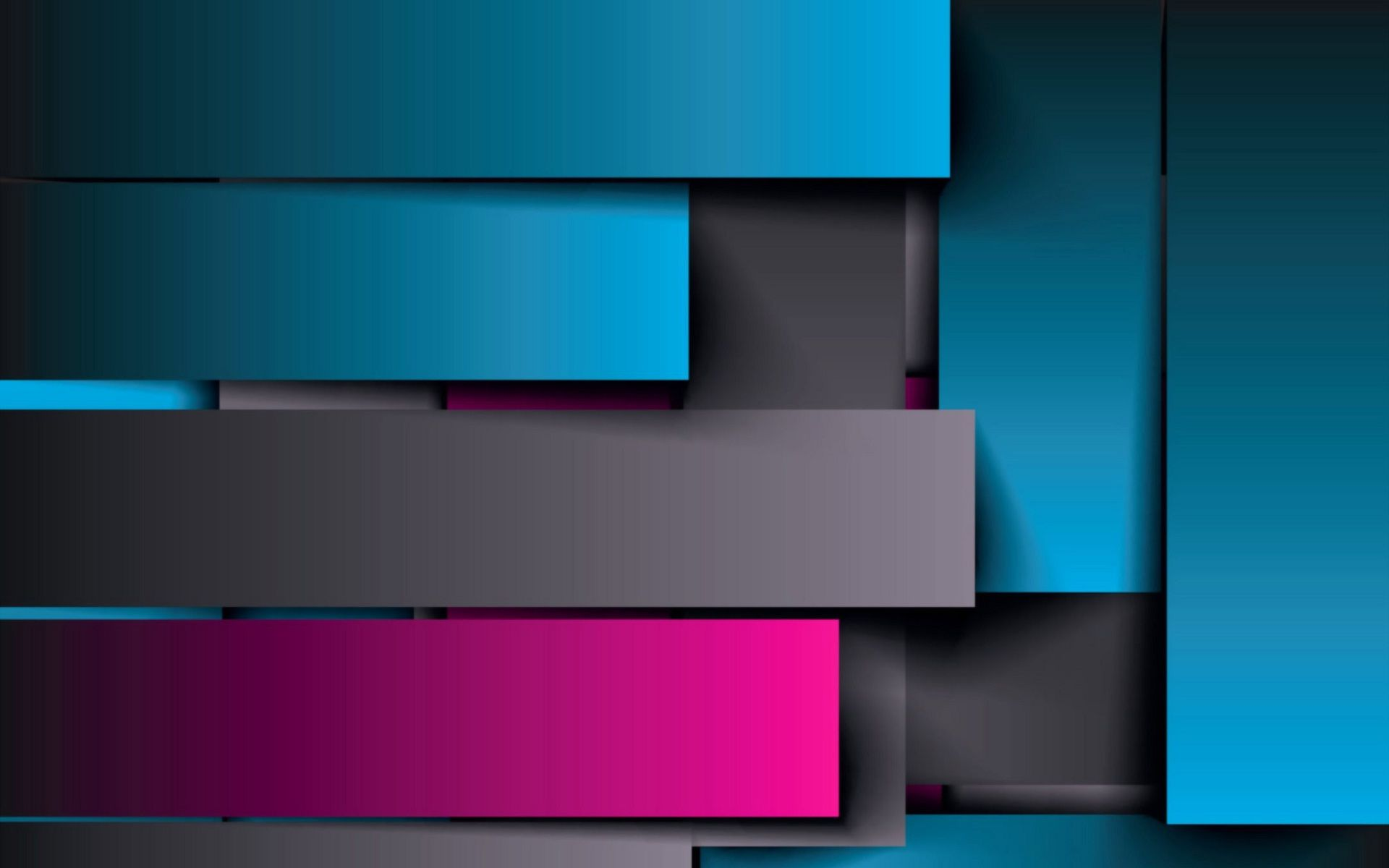 1920x1200 Shodow shine blue and pink abstract wallpaper | HD Wallpapers Rocks
