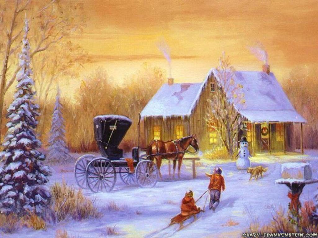 1024x768 Country christmas backgrounds - SF Wallpaper