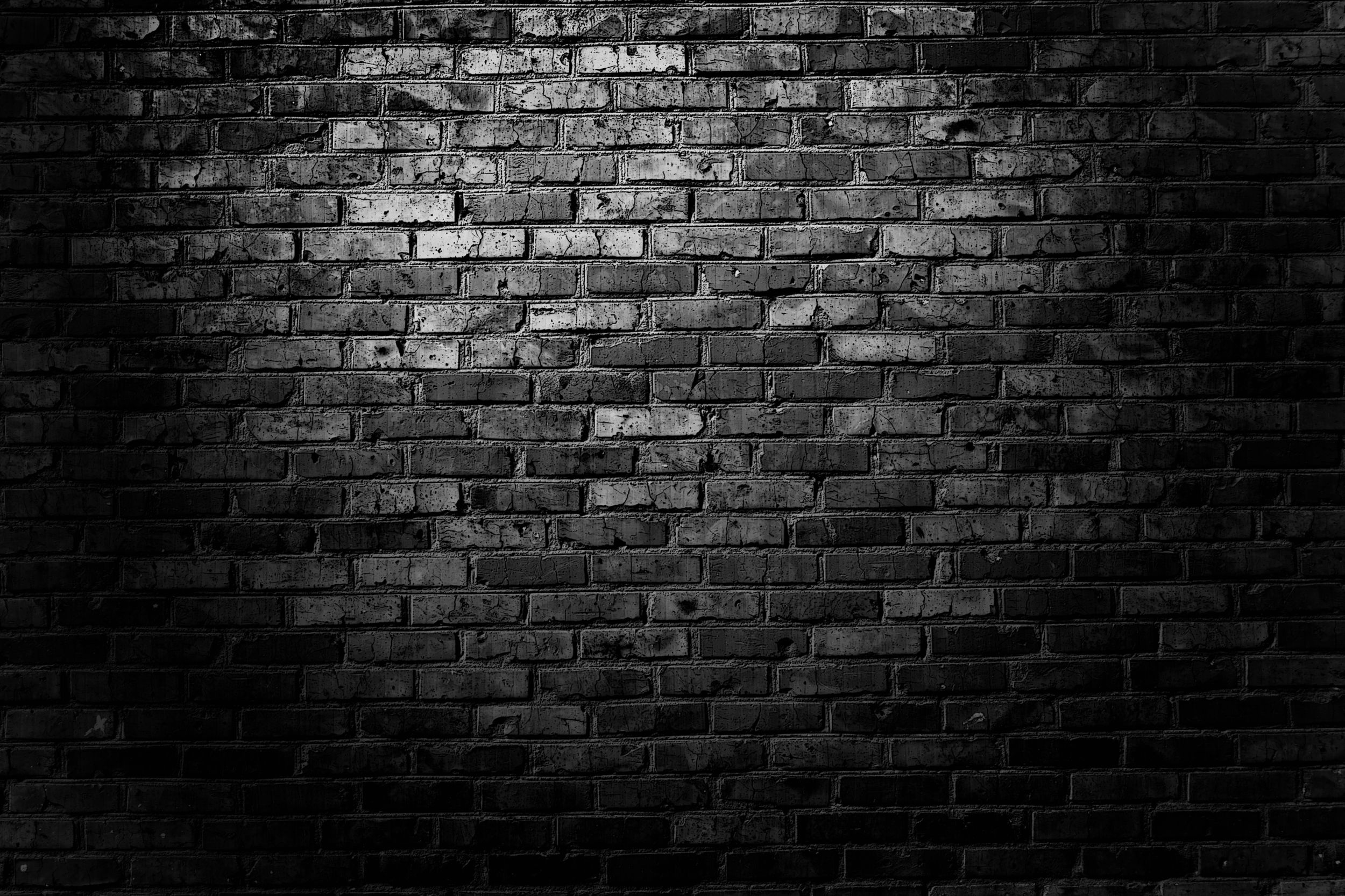 2500x1667 Black Brick Wall Wallpaper Hd Dark For Mobile High Quality Great ...
