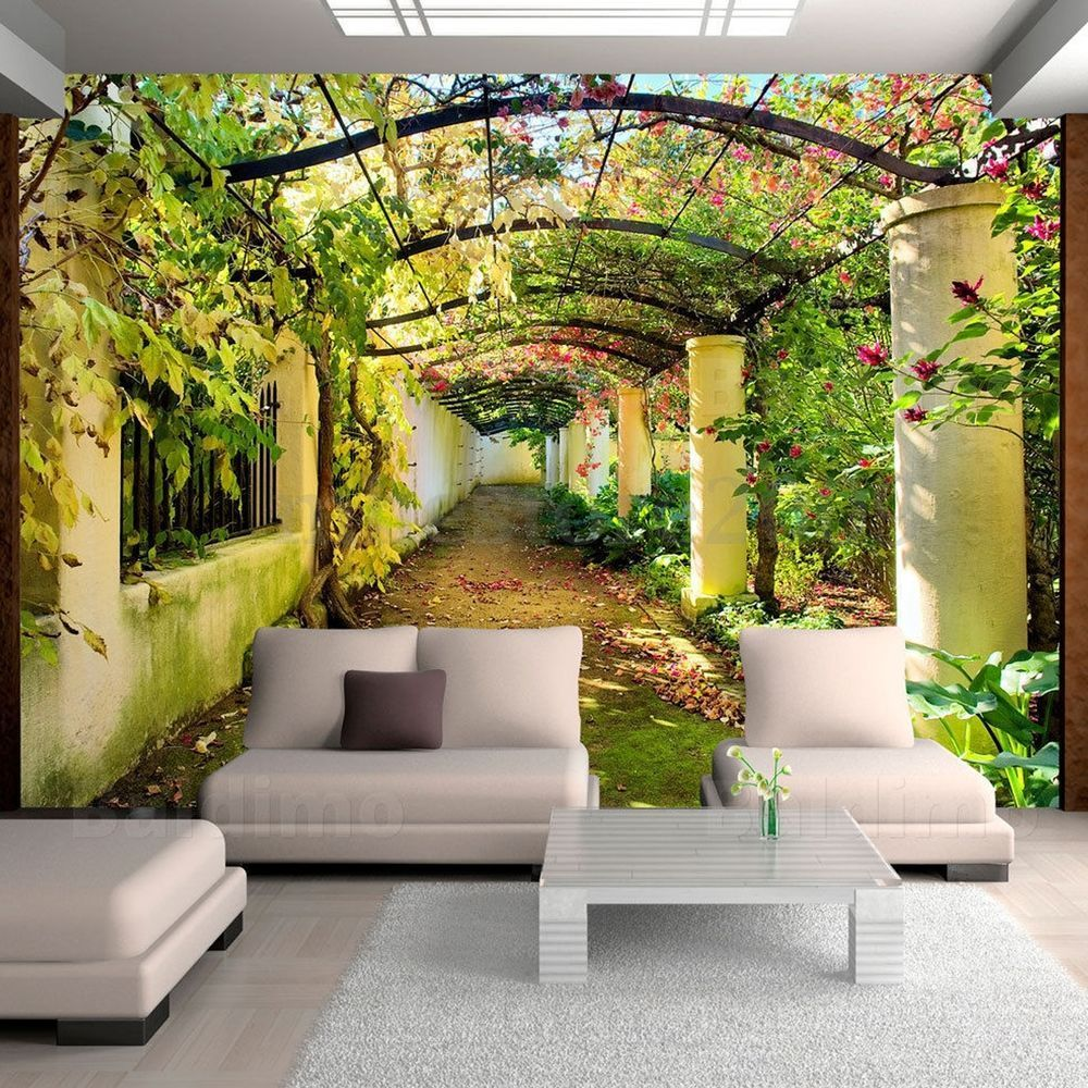 1000x1000 3D Vintage Alley Sticker Living Room Photo Wall Mural Art Background ...