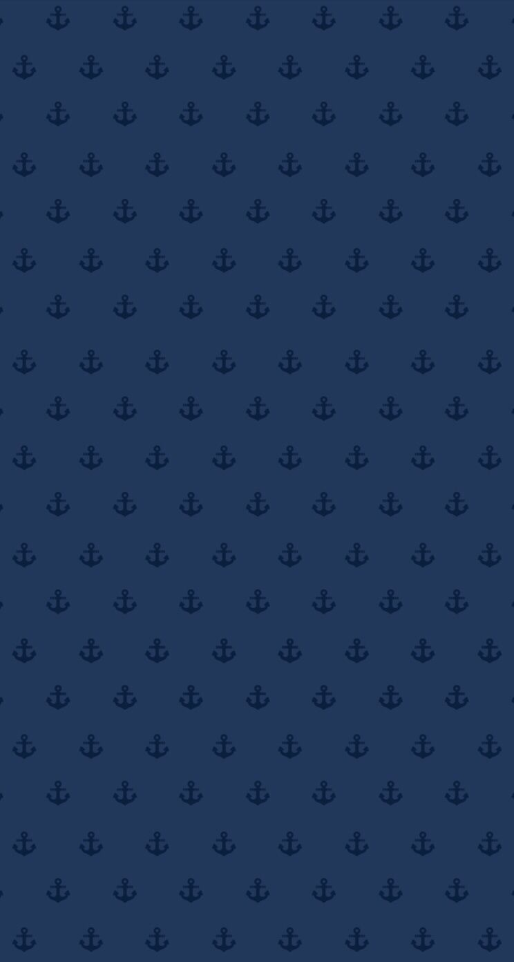 744x1392 Navy blue mini ditsy anchors iphone wallpaper background phone lock ...