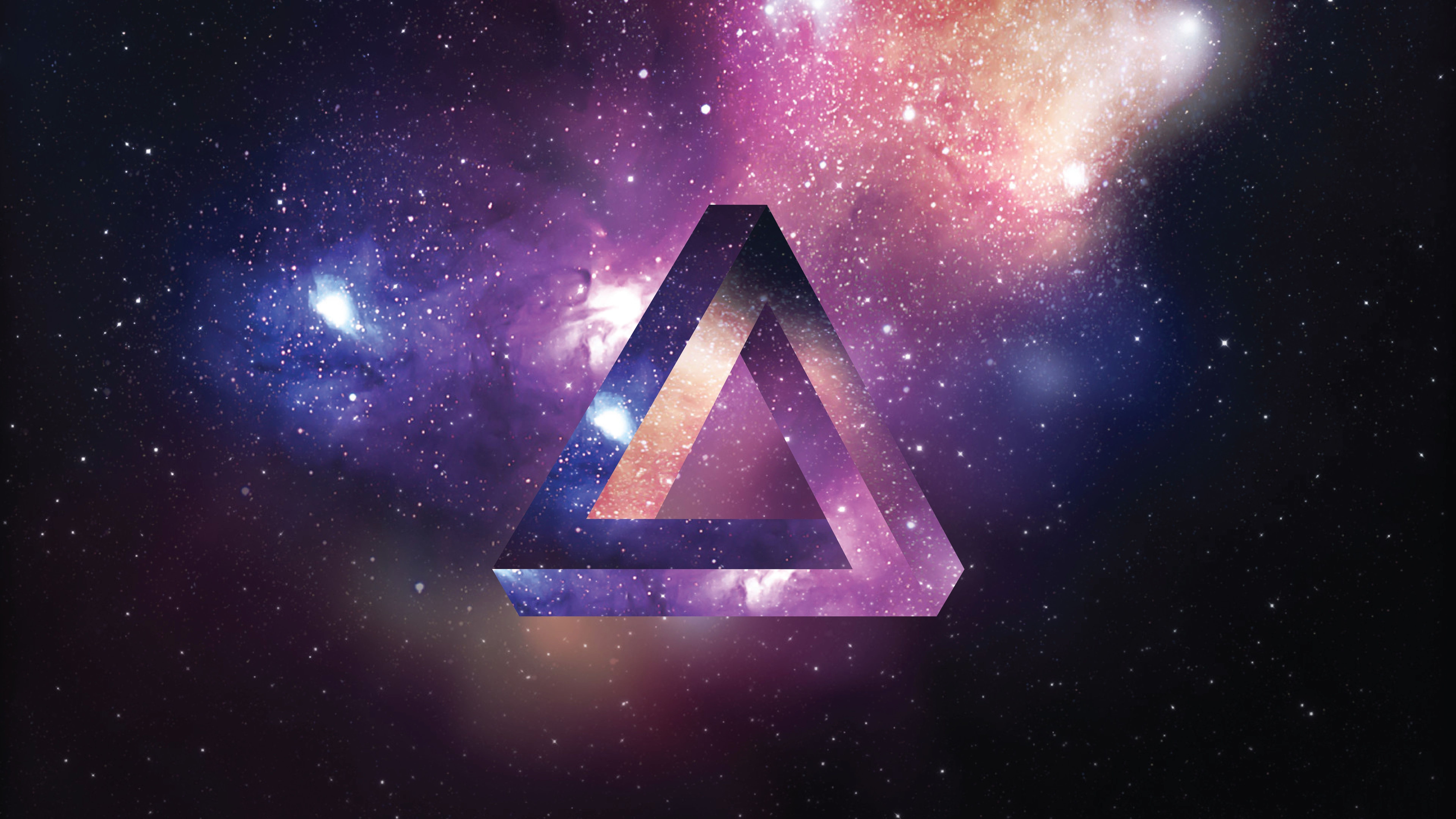 7680x4320 Space Triangle 8K UHD Wallpaper | Wallpapers.gg