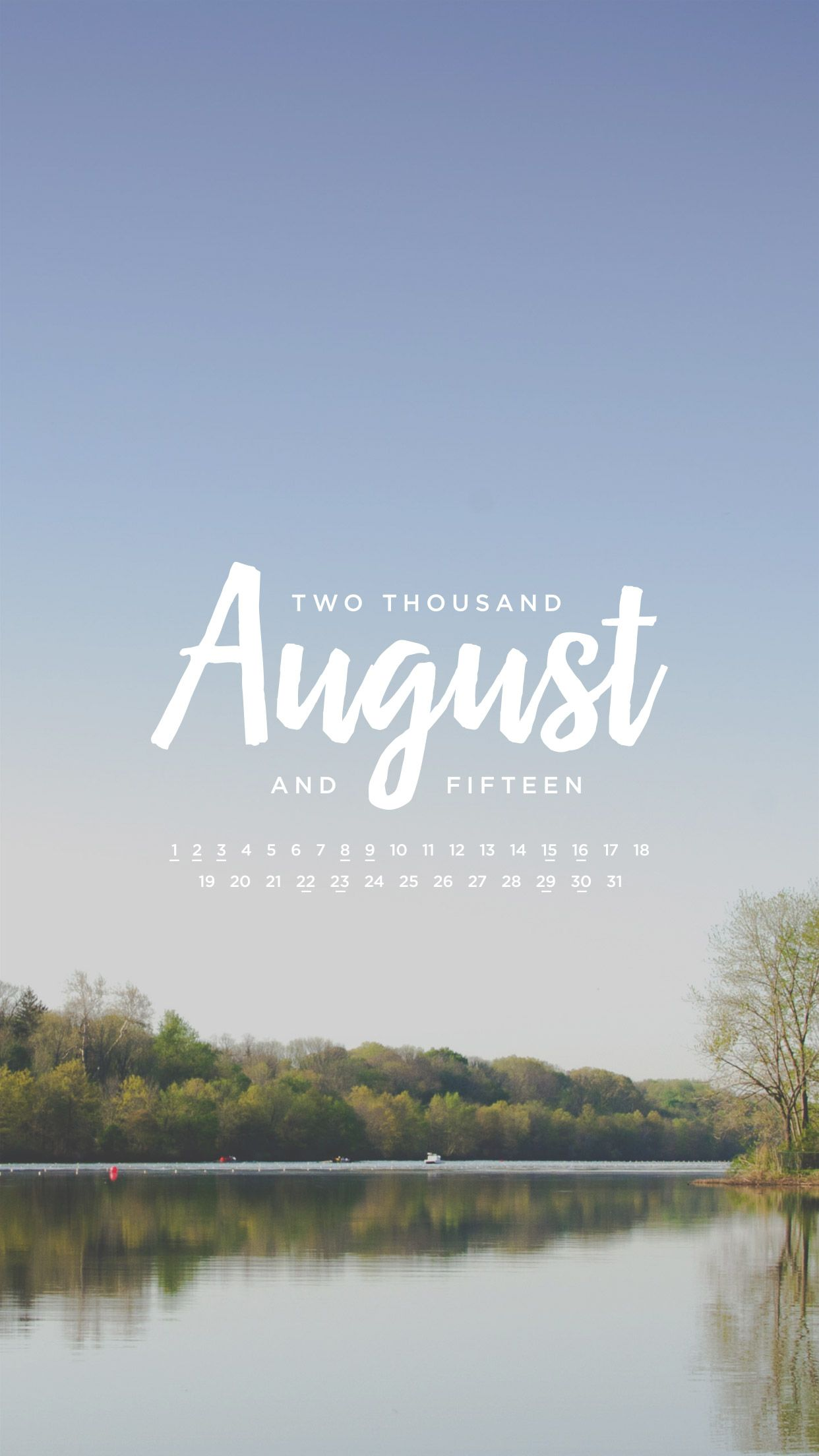 1242x2208 August 2015 Desktop Calendar Wallpaper | Paper Leaf
