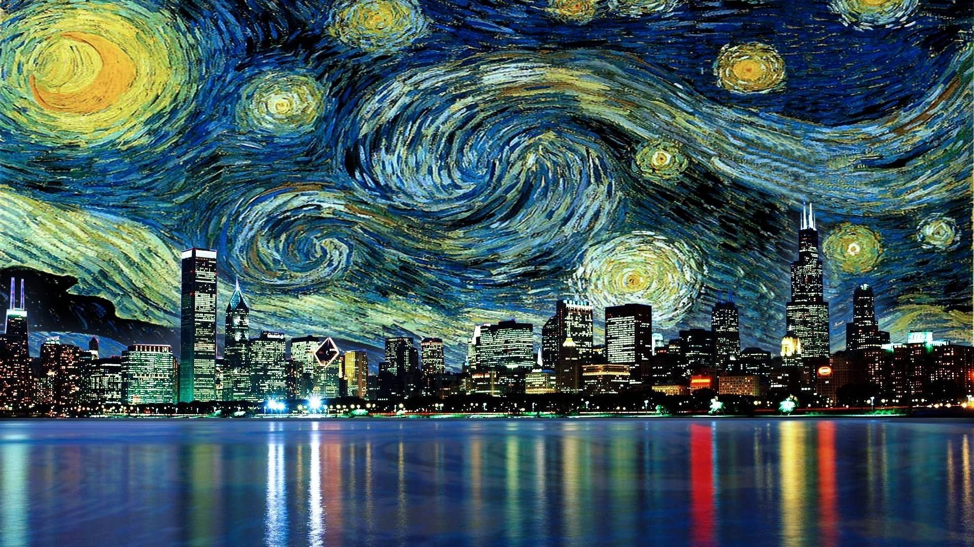 1920x1080 Vincent Van Gogh The Starry Night Free Wallpapers HD Wallpapers ...