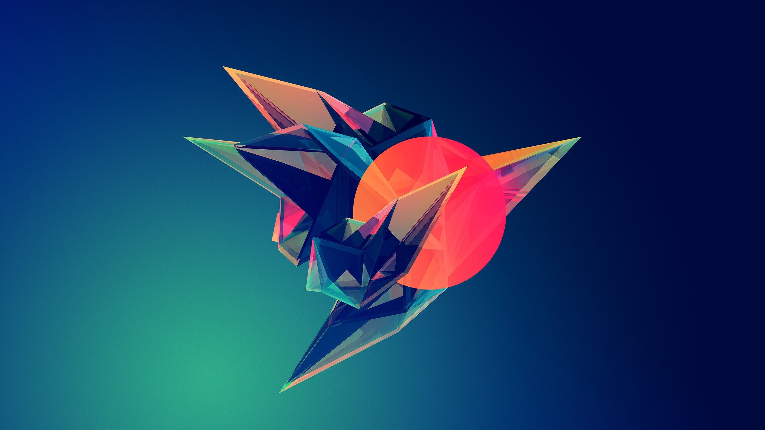 2560x1440 Hipster Triangle Post Modern Abstract Minimalist Art ...