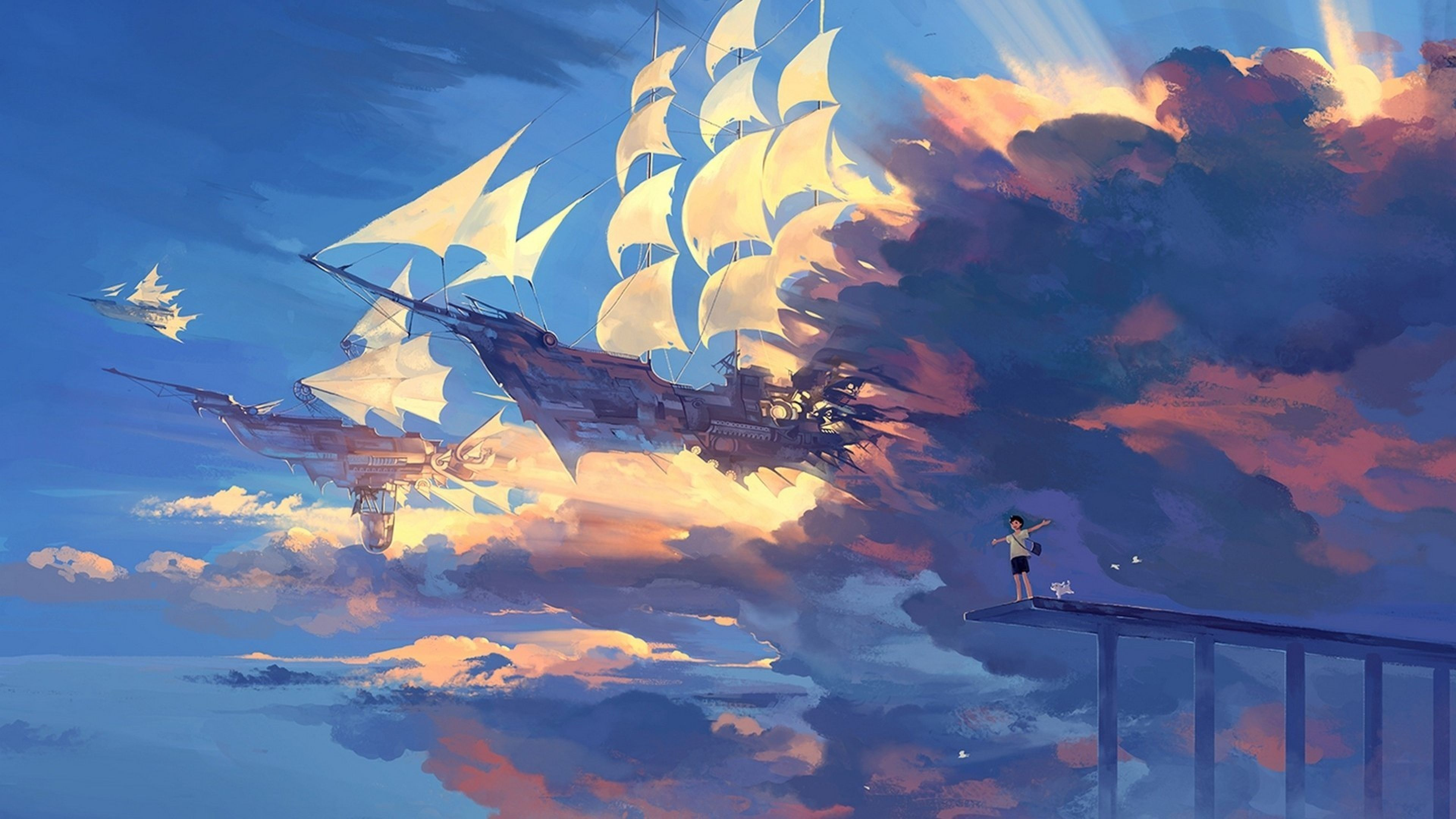 3840x2160 Image result for anime sky | Anime | Pinterest | Anime, Scenery and ...