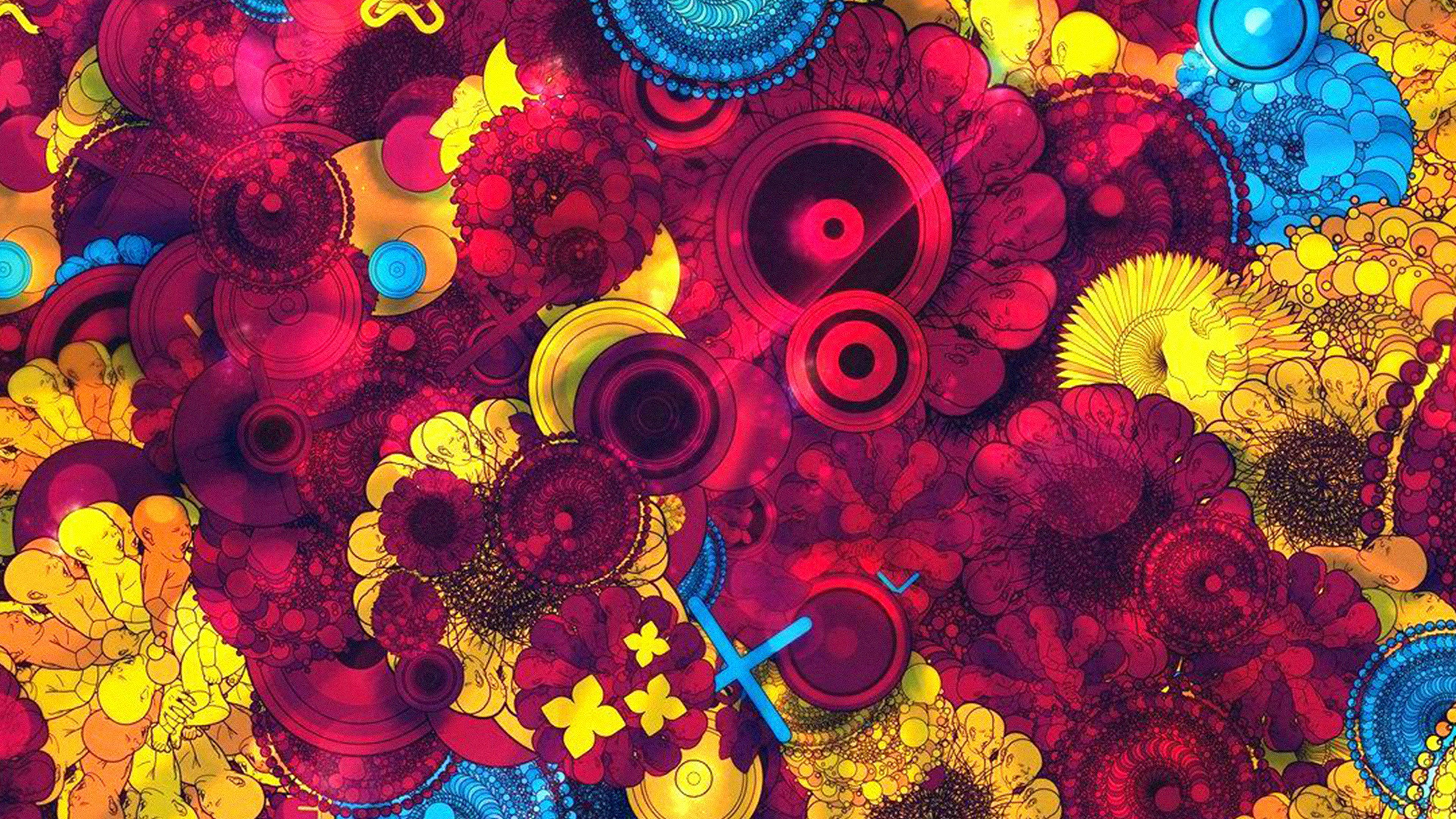 3840x2160 vq58-abstract-art-red-blue-yellow-color-pattern-wallpaper