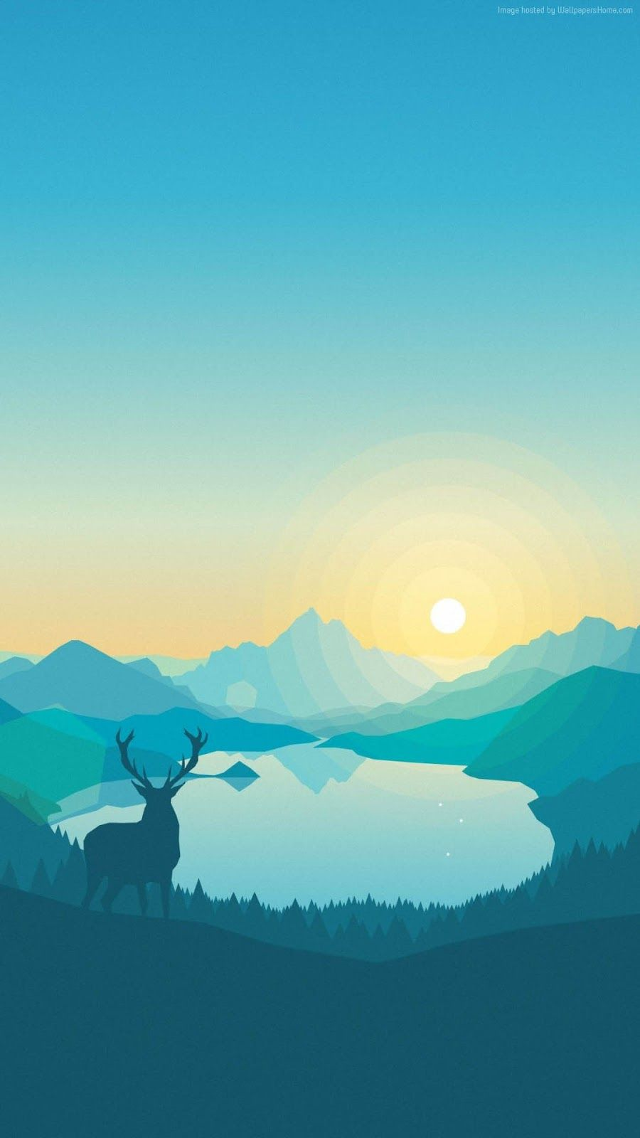 900x1600 Ploskiy Abstract Forest Deer iPhone 7 and iPhone 7 Plus HD ...