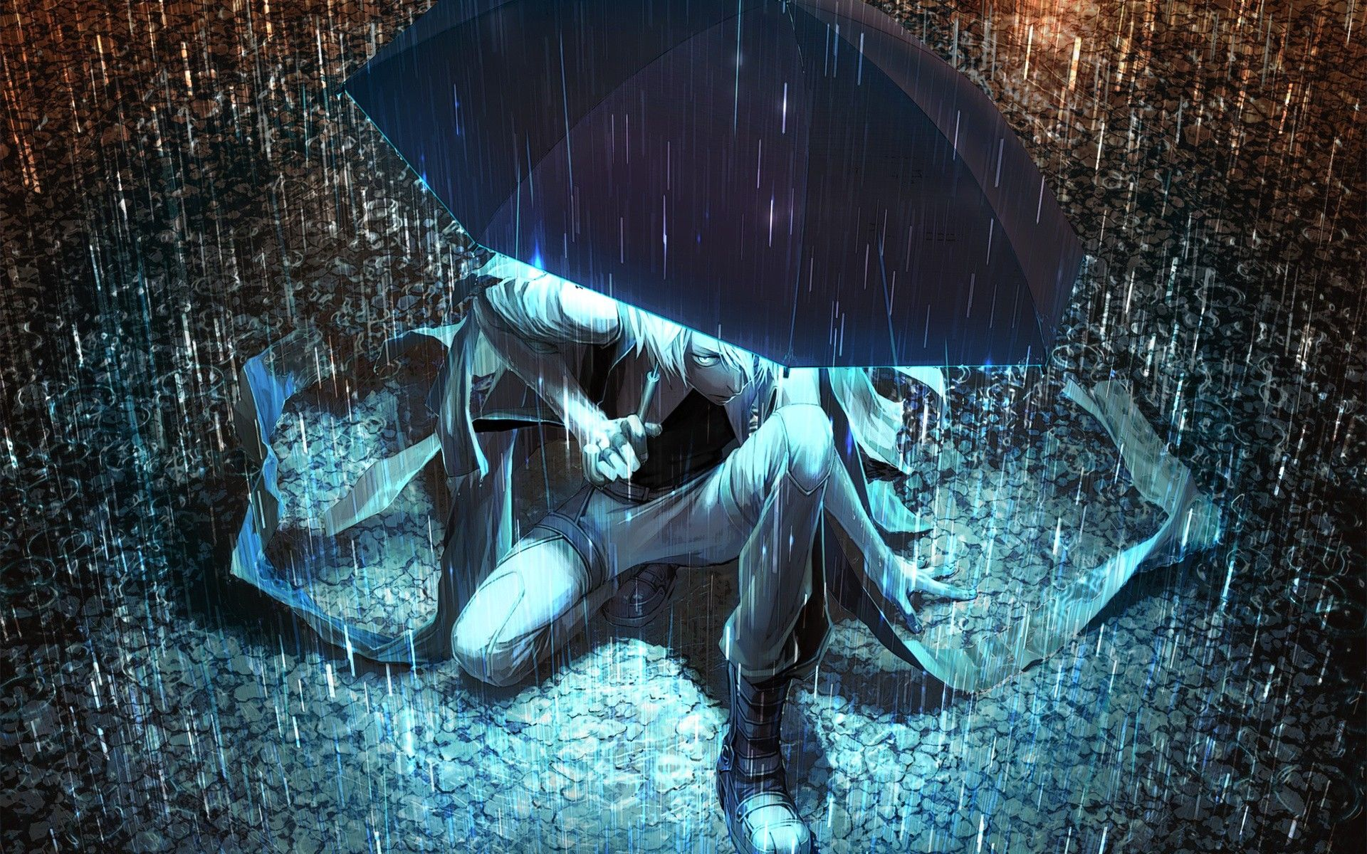 1920x1200 Rain Wallpaper With Boy Lonely Sad Anime Girls And Boys Wallpapers ...
