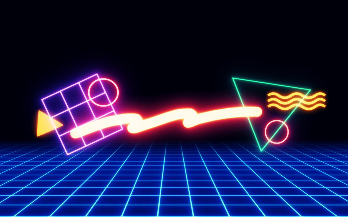 1200x750 80s Neon Shapes/Wallpapers on Behance