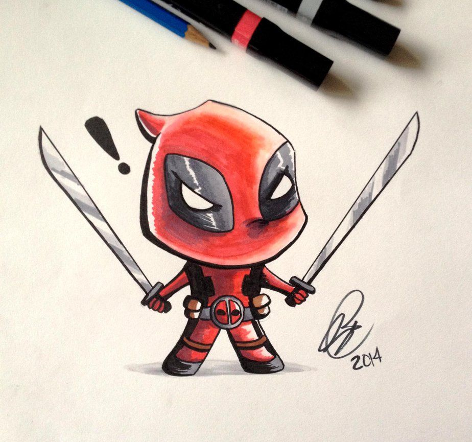 924x865 Chibi Deadpool Marker by Ruby--Art on DeviantArt