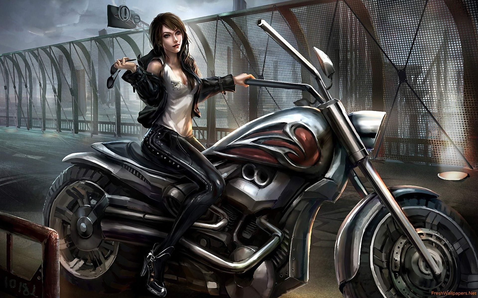 1920x1200 motorcycle girl wallpapers | Freshwallpapers