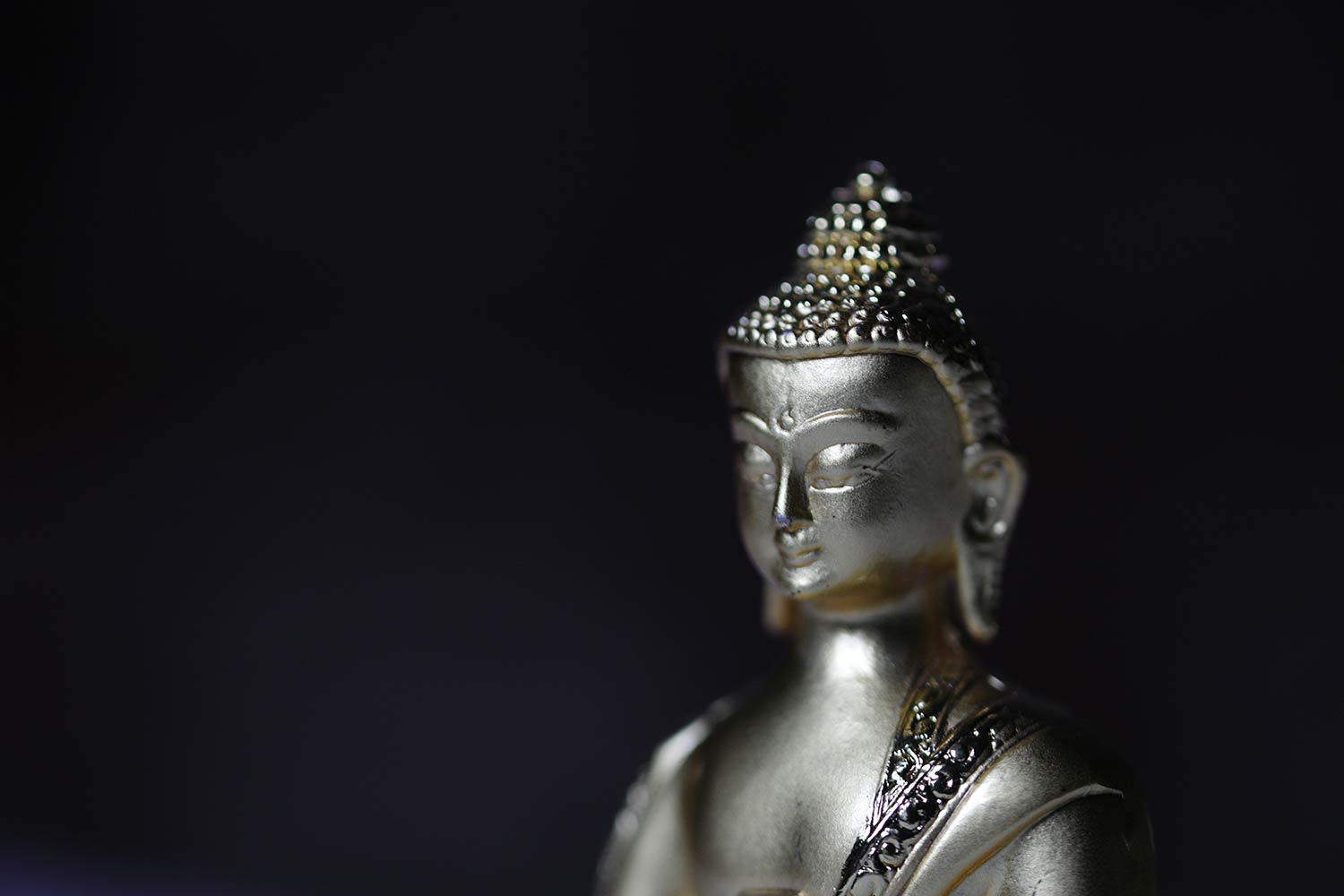 1500x1000 Silver Buddha Wallpaper for Wall Decor