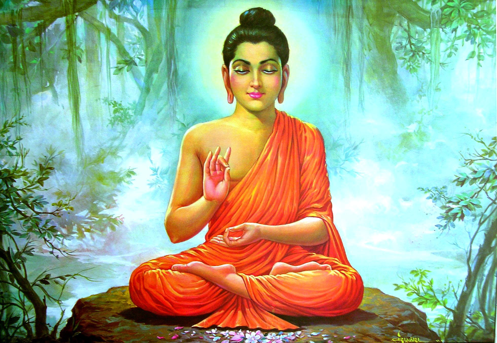 1960x1355 Lord Gautam Buddha Wallpaper Free Download
