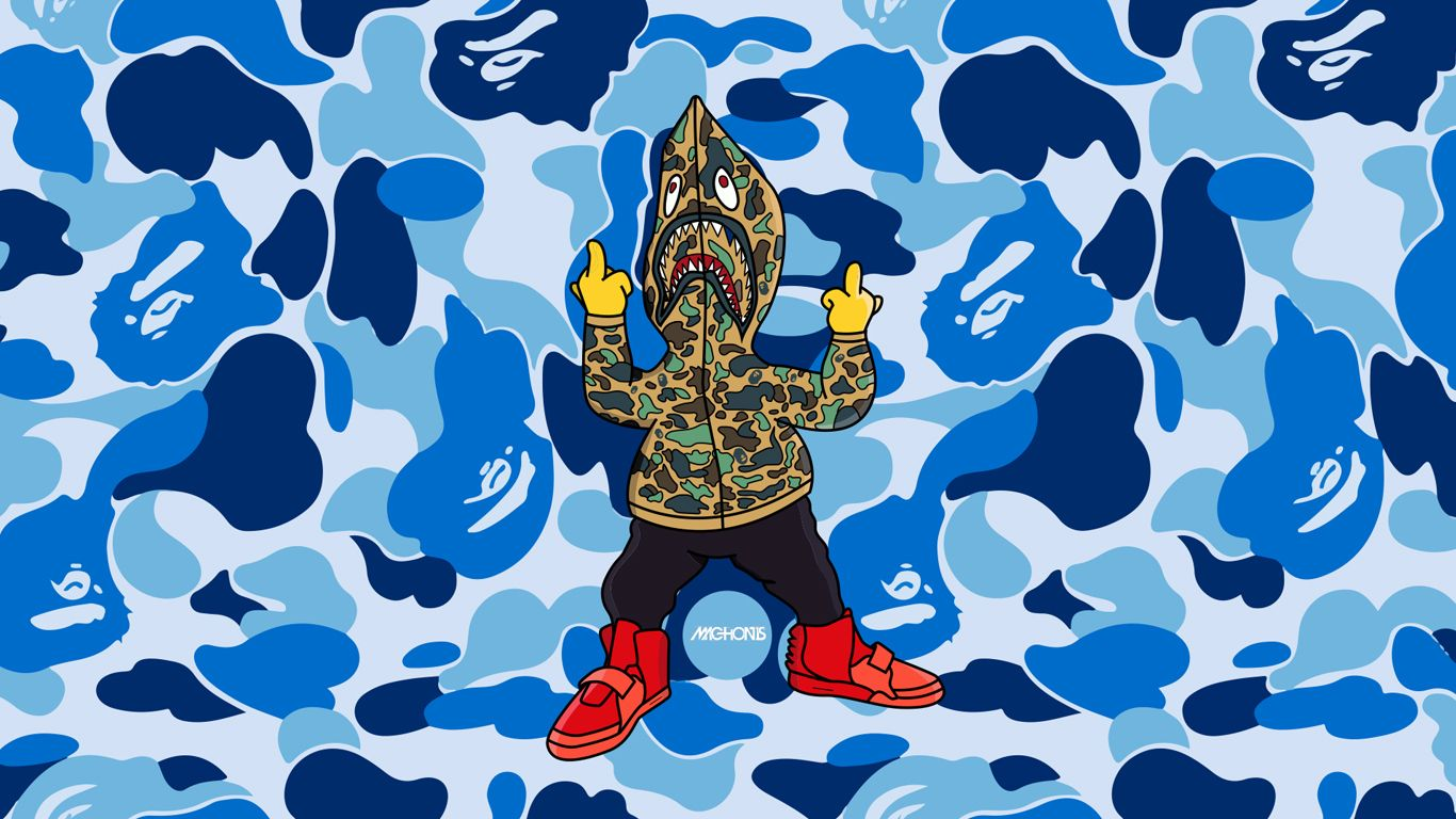 1366x768 bape wallpapers Group with 76 items