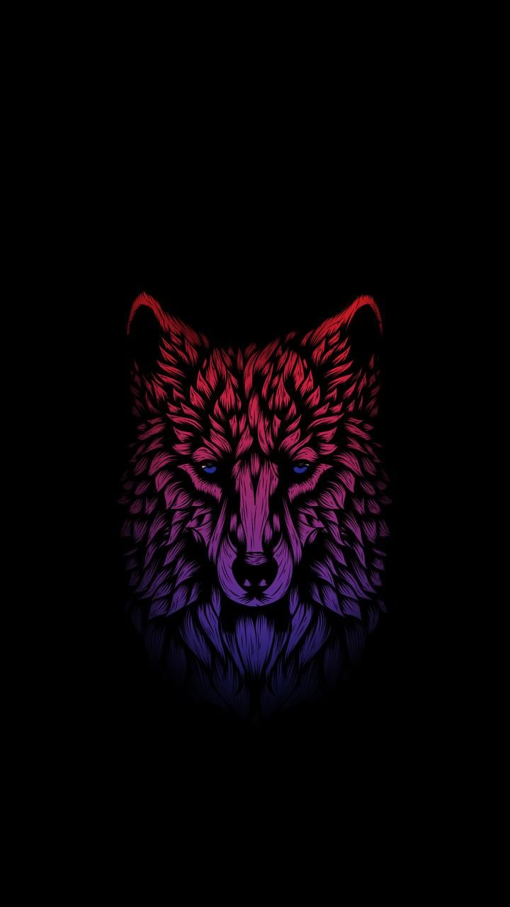 720x1280 Amoled Wolf wallpaper by gterritory • ZEDGE™ - free your phone