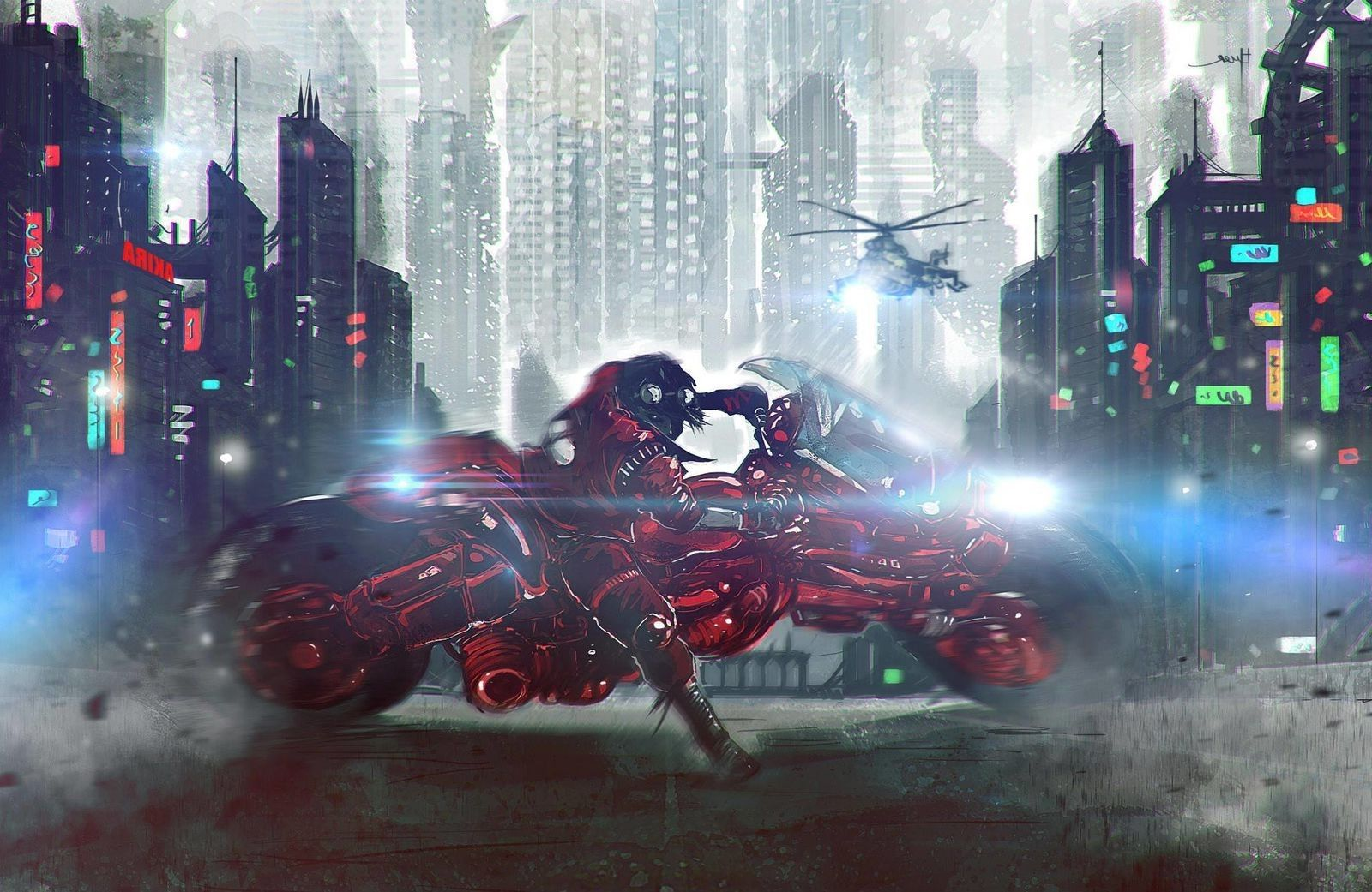 1600x1041 Akira, Cyberpunk, Helicopters, Anime Boys Wallpapers HD / Desktop ...
