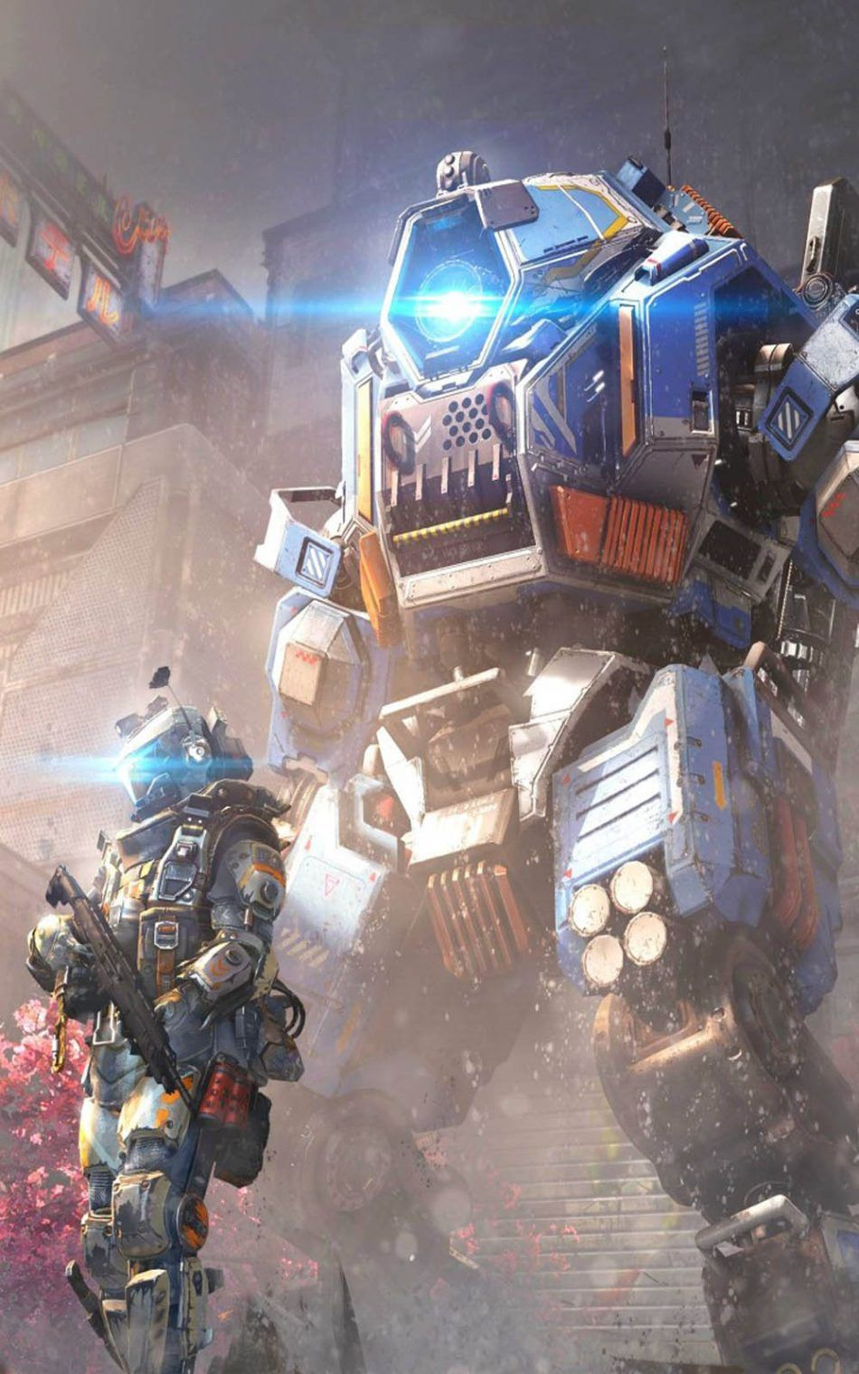 950x1520 Titanfall 2 Angel City - Download Free 100% Pure HD Quality Mobile ...