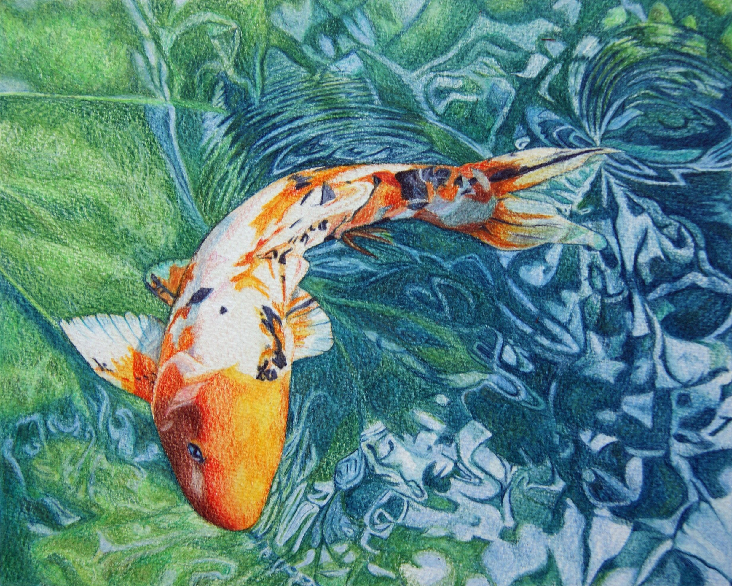 2469x1975 Japanese Koi Art Fishenhfinal 1873305.6 Wallpaper | Art | Pinterest ...