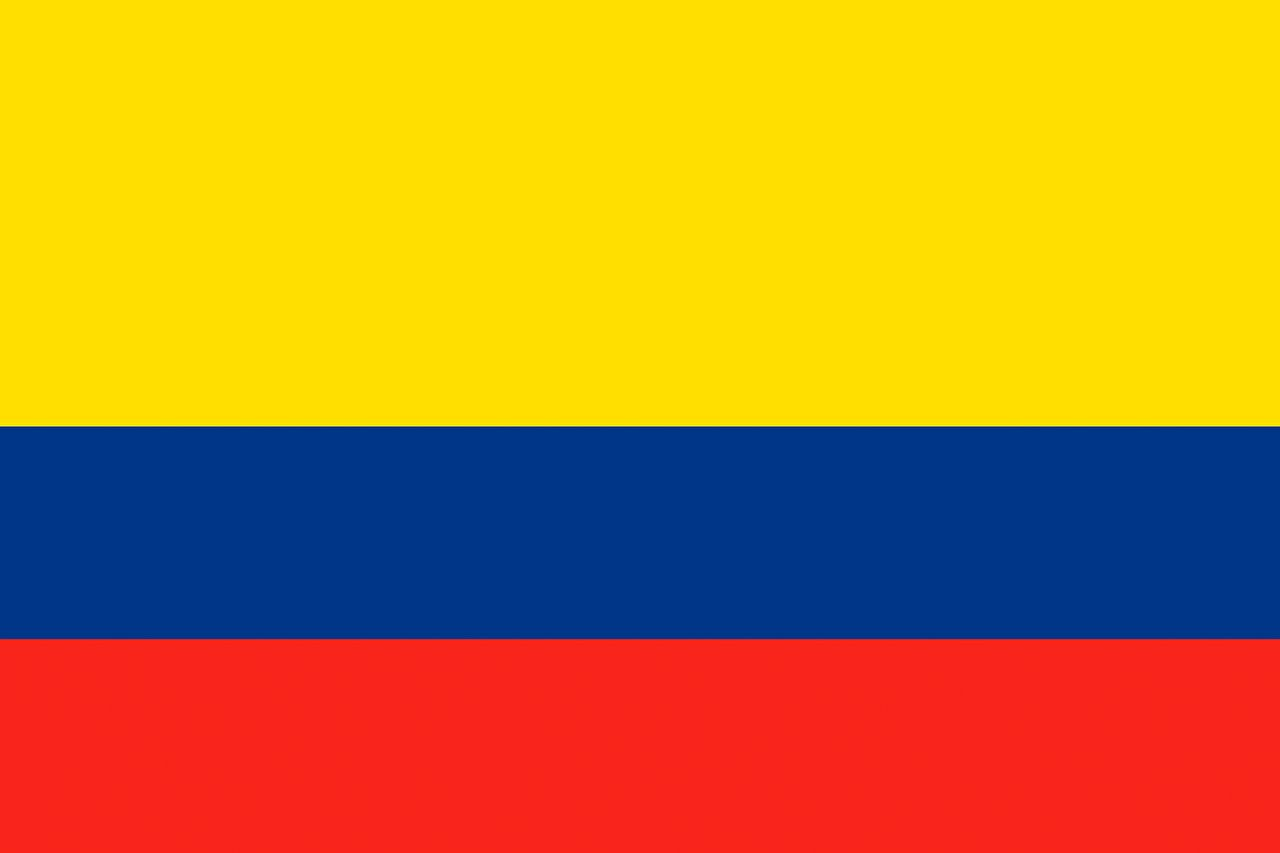 1280x853 Colombia Flag Stripes