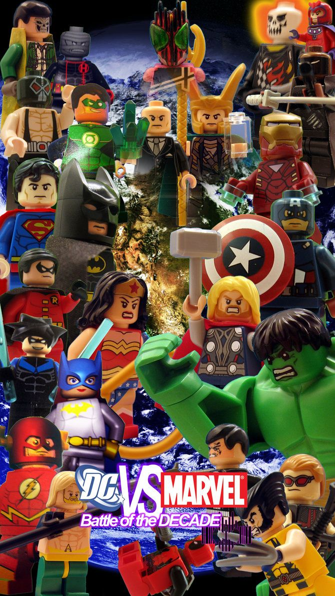 670x1191 LEGO DC Vs MARVEL: Battle of the Decade Poster by Digger318 on ...