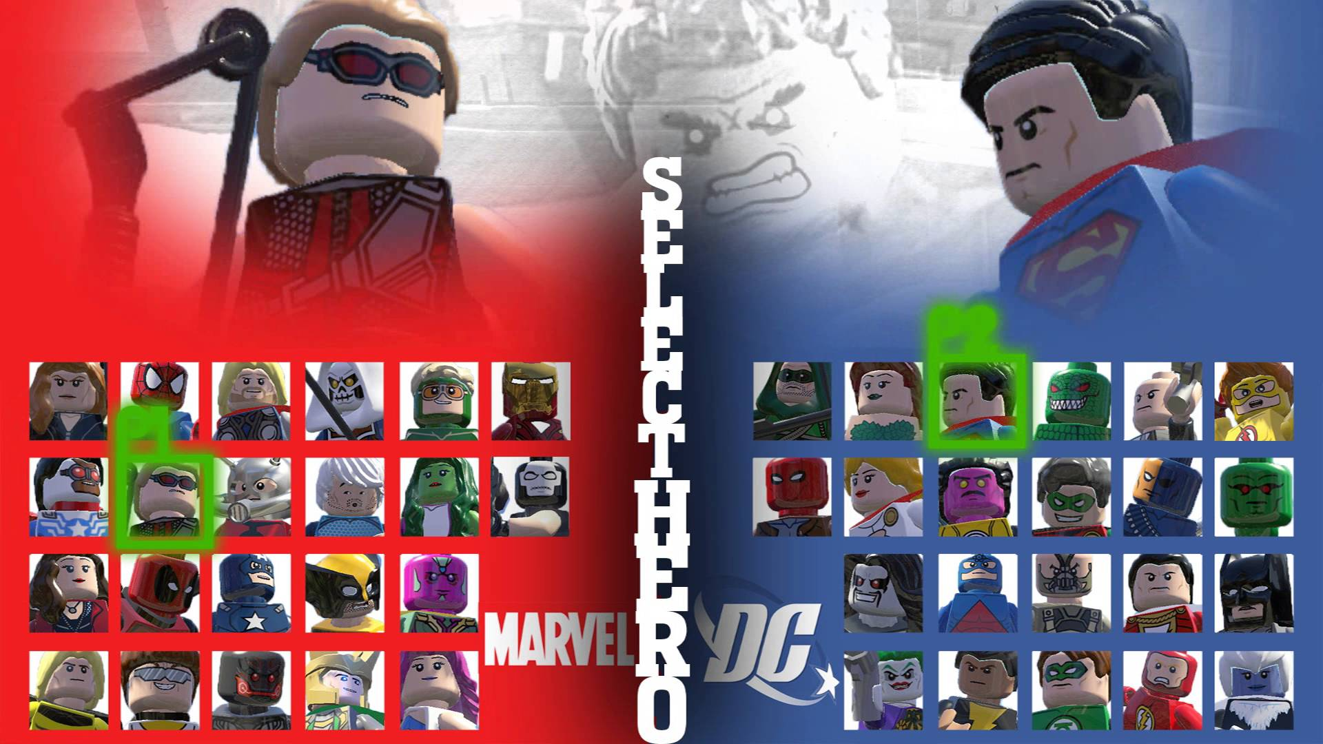 1920x1080 LEGO MARVEL VS DC SUPER HEROES - START GAME! - YouTube
