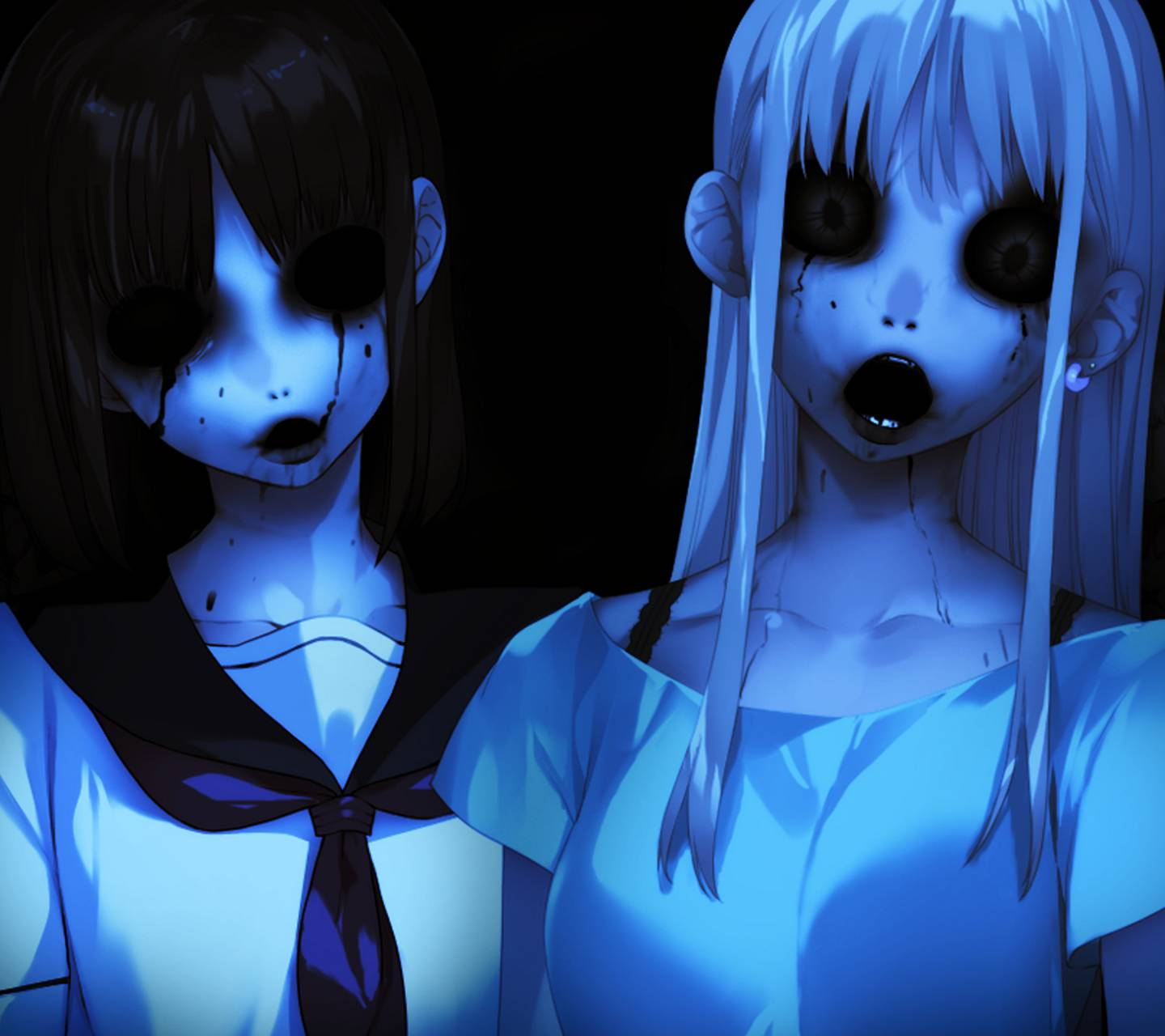 1440x1280 Horror Anime Girl wallpaper by Axime • ZEDGE™ - free your phone
