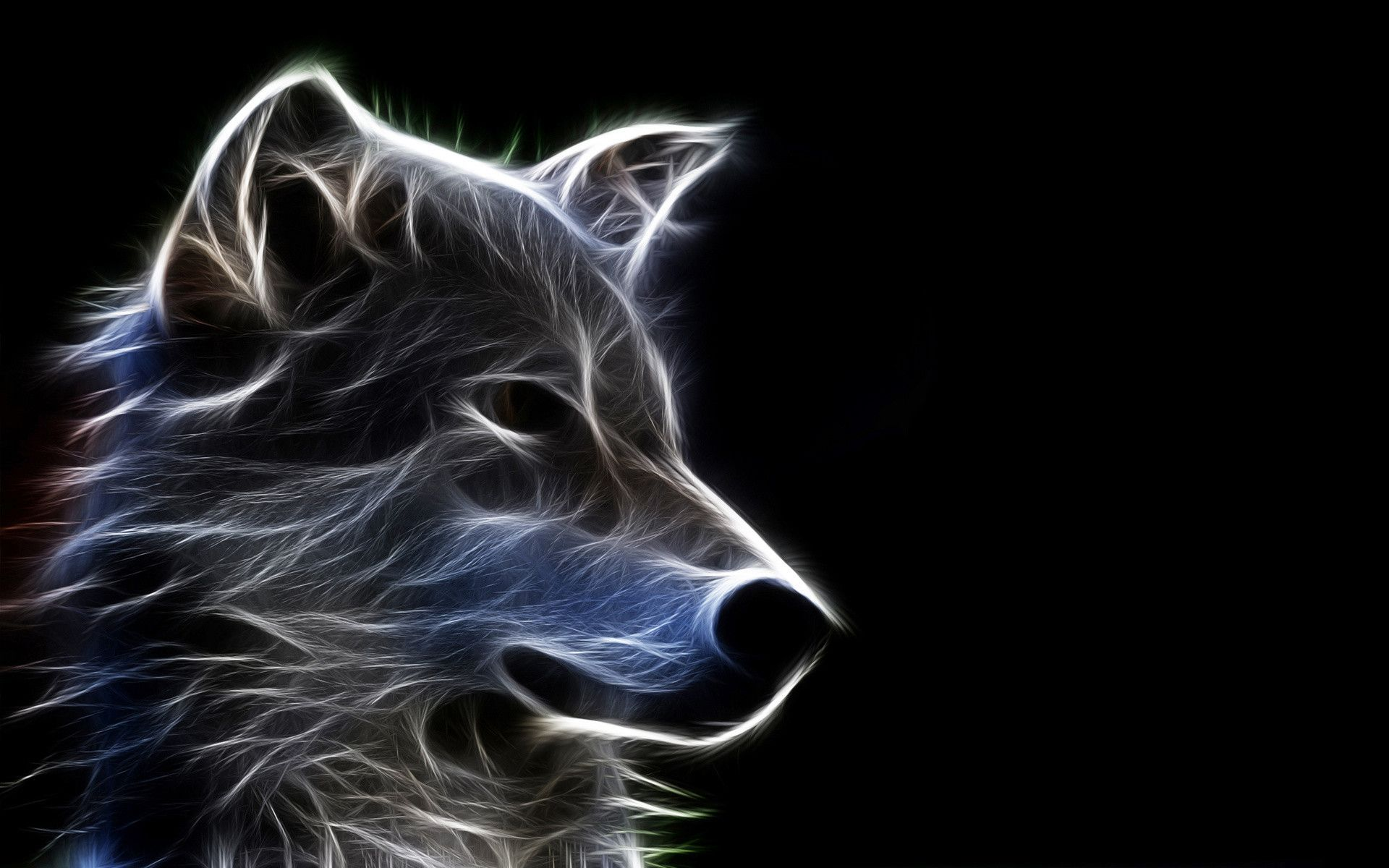 1920x1200 Neon Wolf Wallpaper (54+ images)