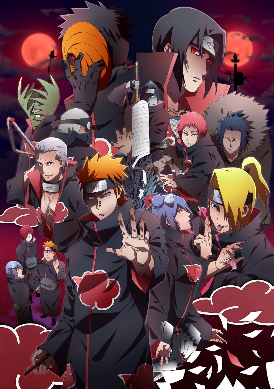 885x1254 Akatsuki (NARUTO) Mobile Wallpaper #1984226 - Zerochan Anime Image Board
