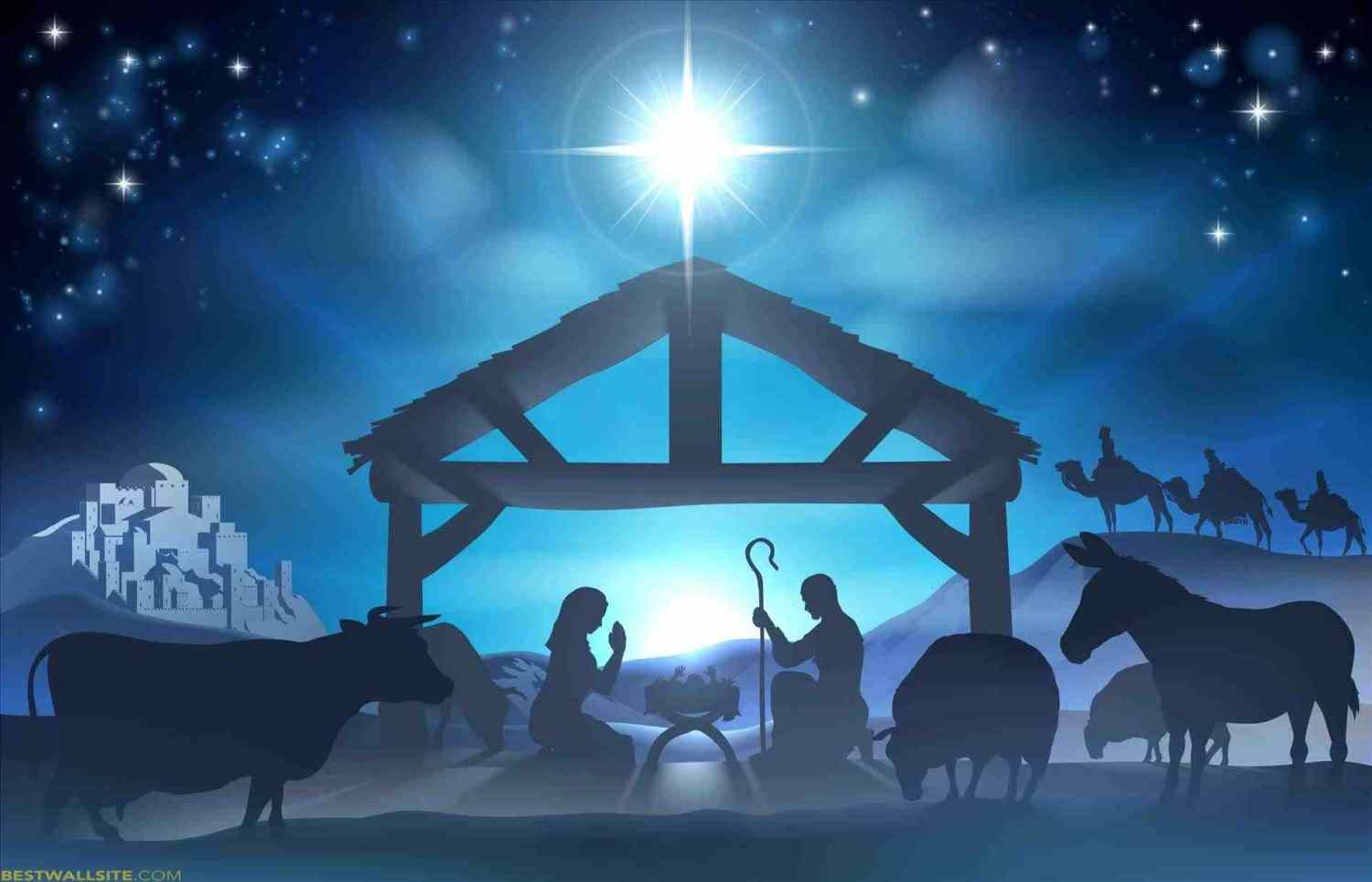 1500x965 Baby Bed's : Wallpaper Away In The Manger Merry Christmas Crib ...