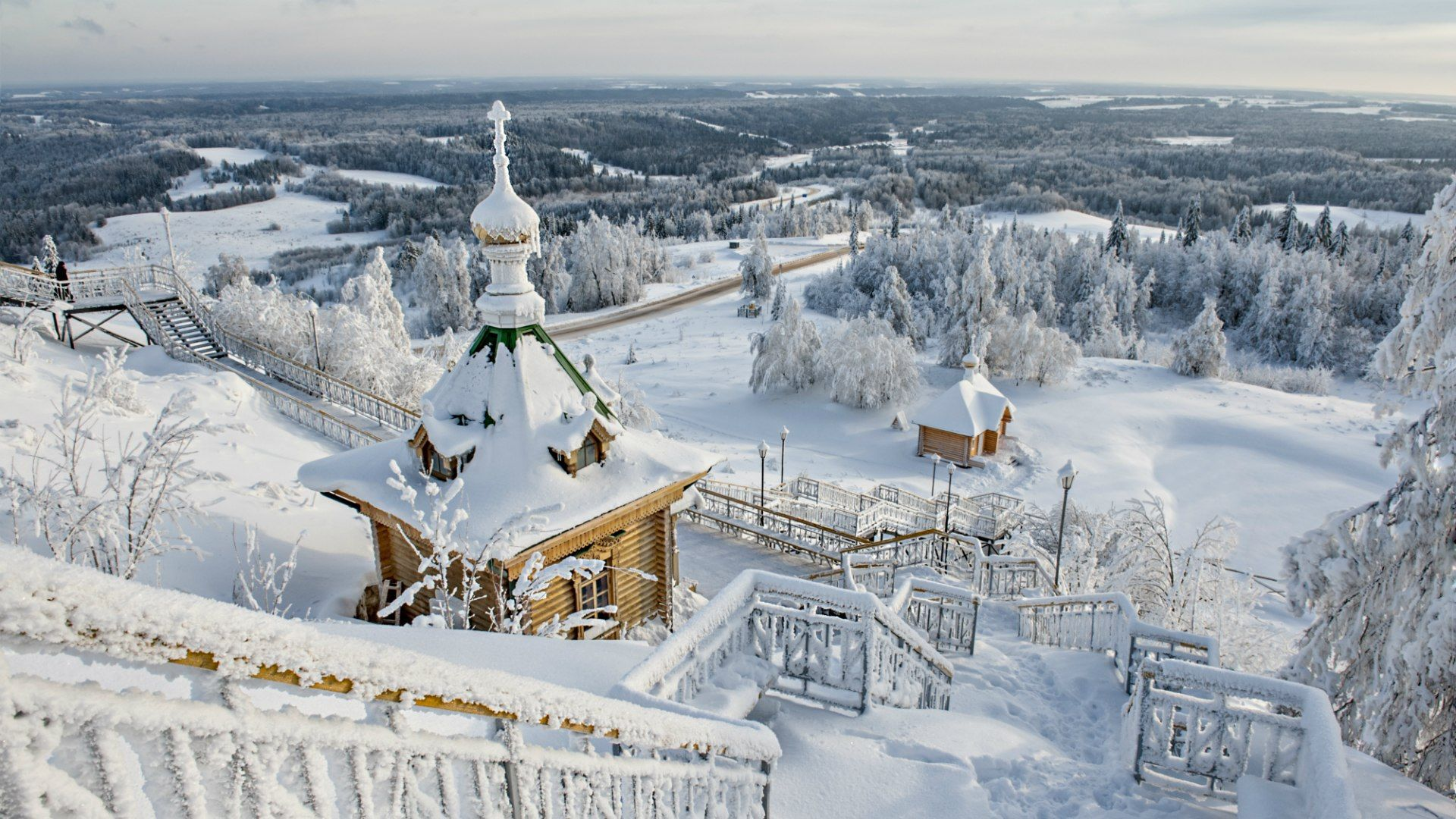 1920x1080 Winter landscape in Russia wallpapers and images - wallpapers ...