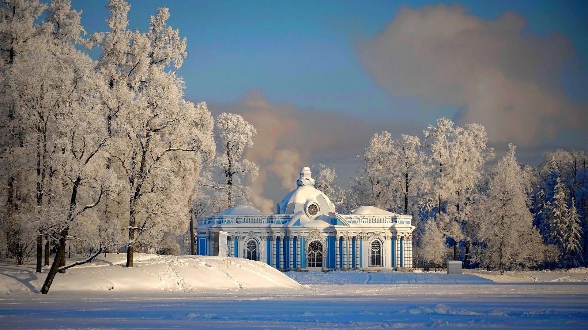 1920x1080 Houses St Petersburg Snow Winter Russia Buildings HD Pictures for ...