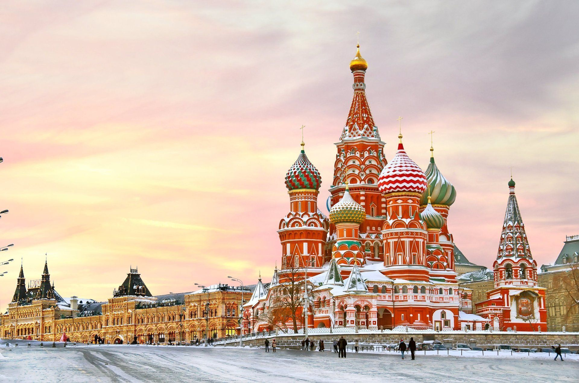 1920x1272 moscow russia kremlin city the kremlin st. basil's cathedral square ...