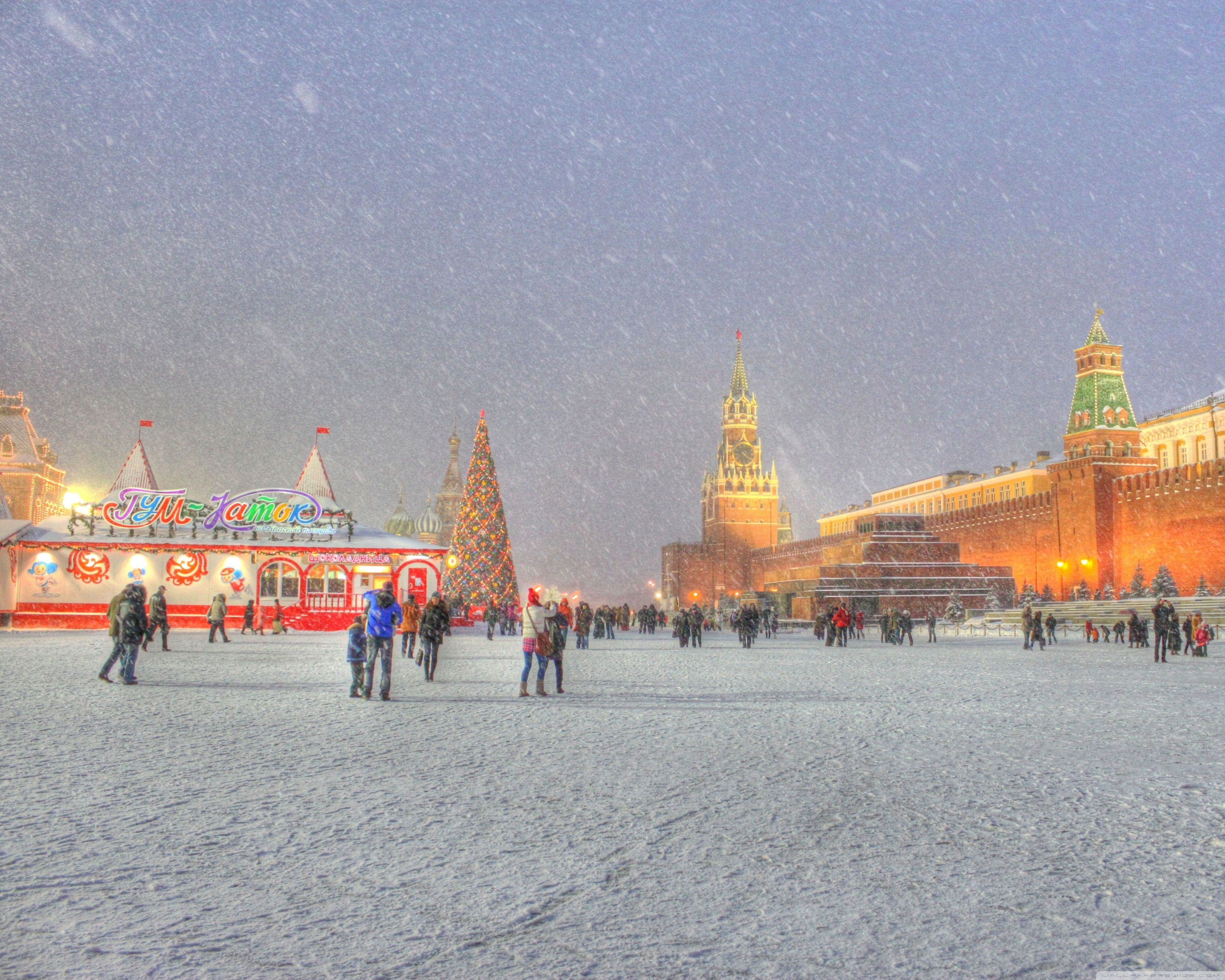 3750x3000 Red Square Moscow Russia Winter Holidays ❤ 4K HD Desktop Wallpaper ...