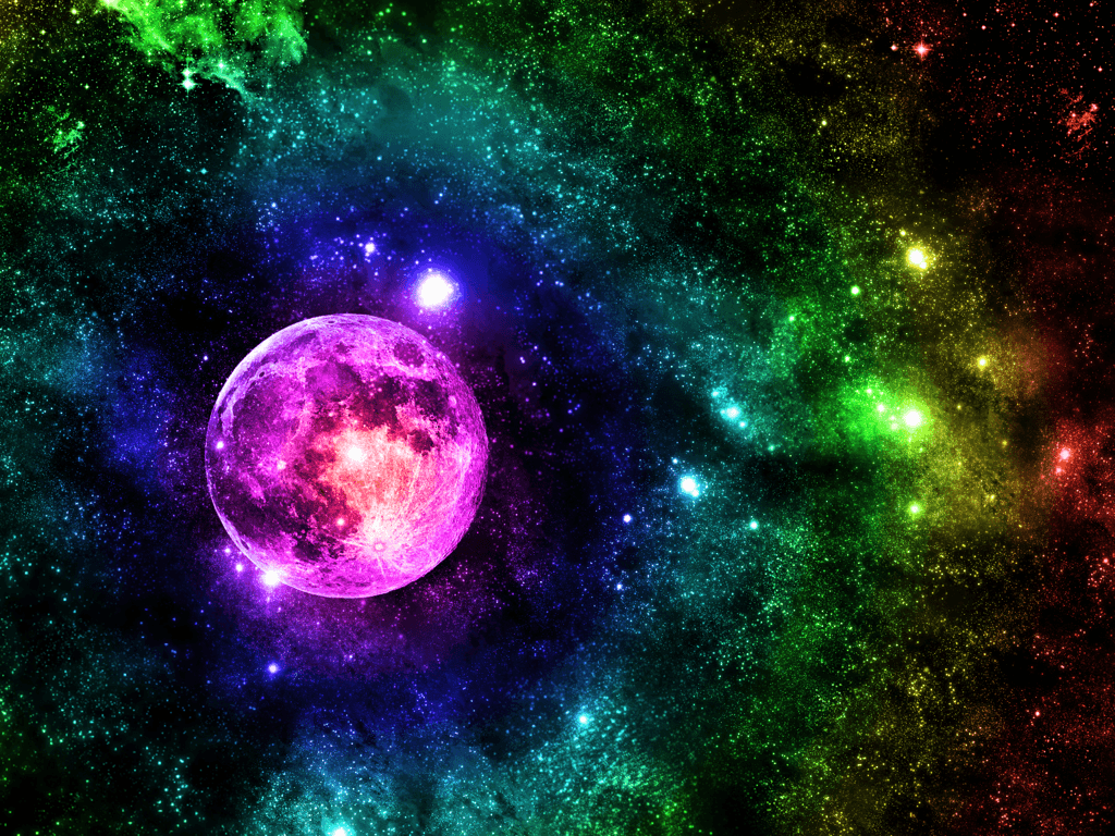 1024x768 Rainbow Space Wallpaper/Background by MCRROXXMYSOXX on DeviantArt