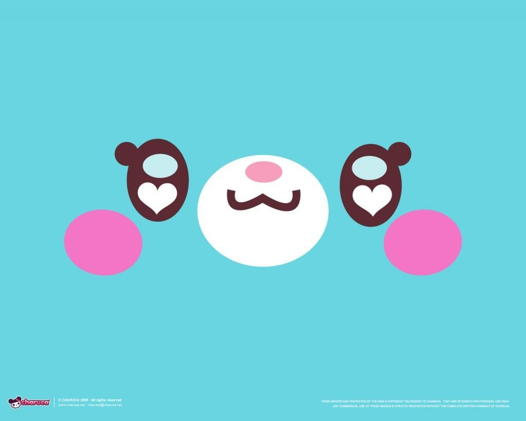 1024x819 wallpaper background in kawaii style from kawaii designer Charuca ...