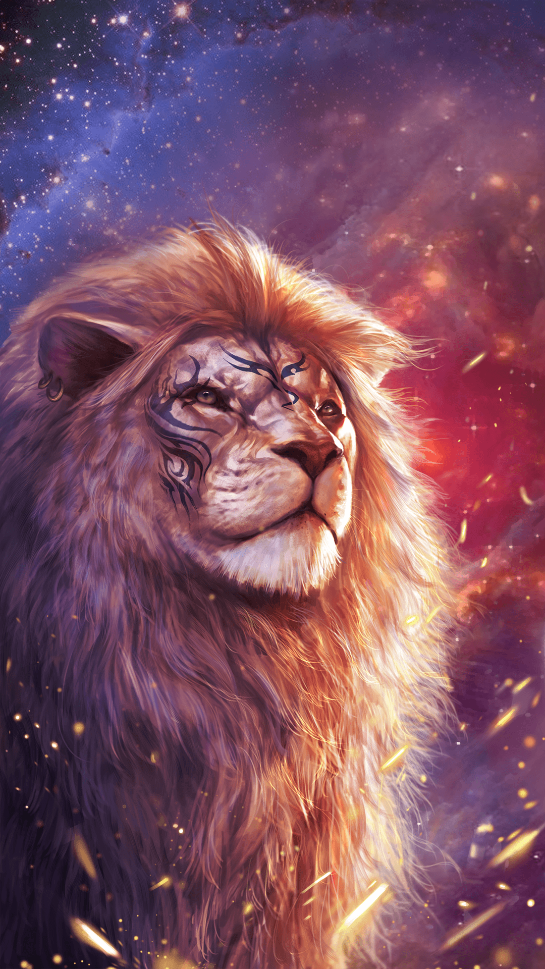 1080x1920 Cool lion wallpaper with totem tattoo! | Animal Tattoos in 2019 ...
